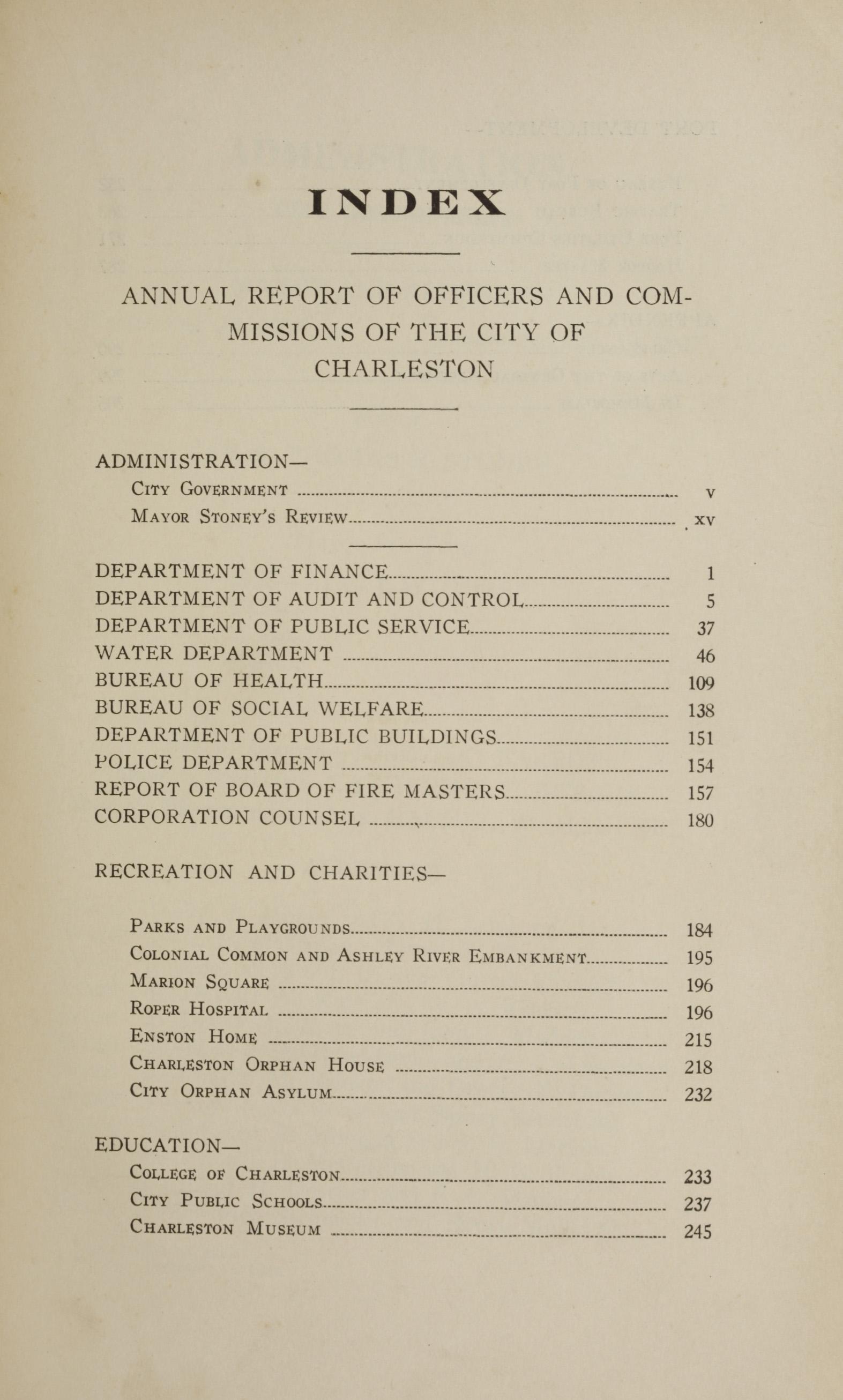 Charleston Yearbook, 1928, page iii