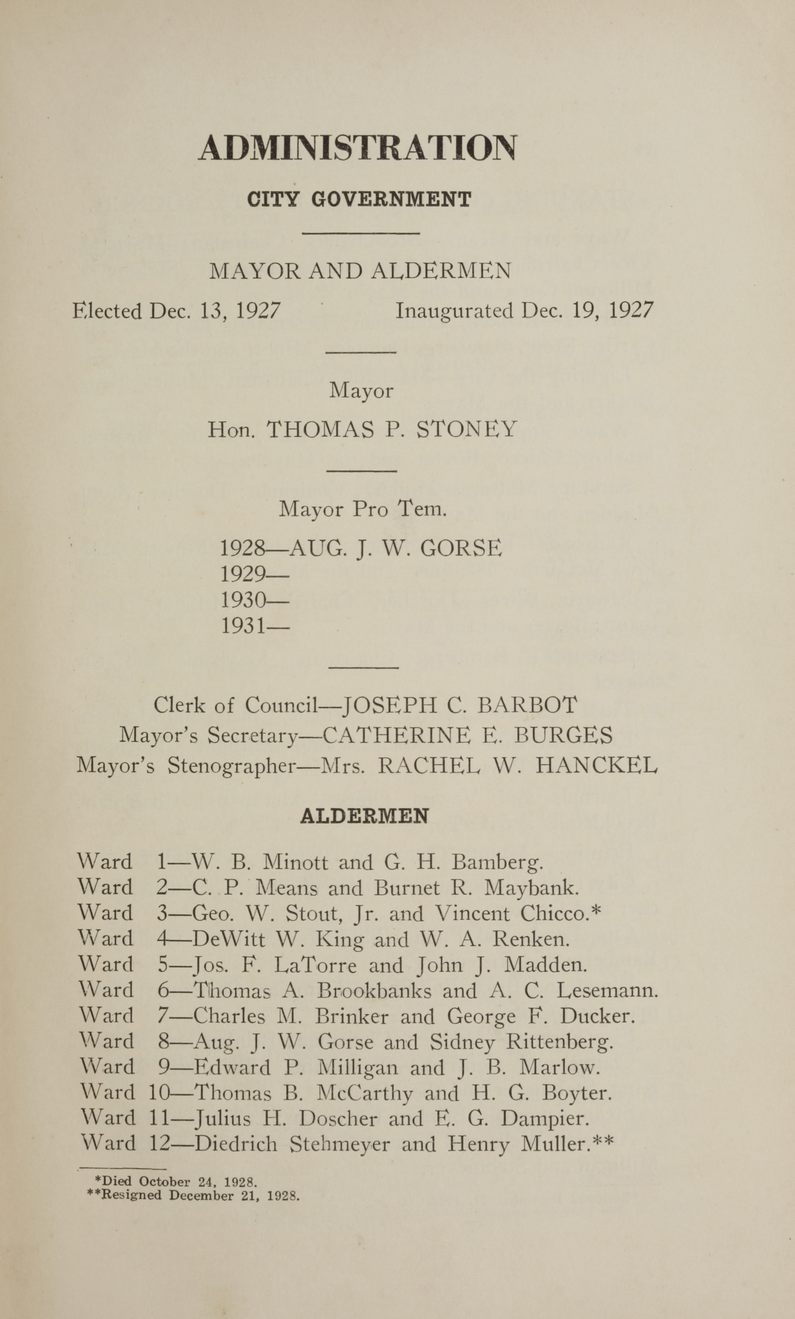 Charleston Yearbook, 1928, page v