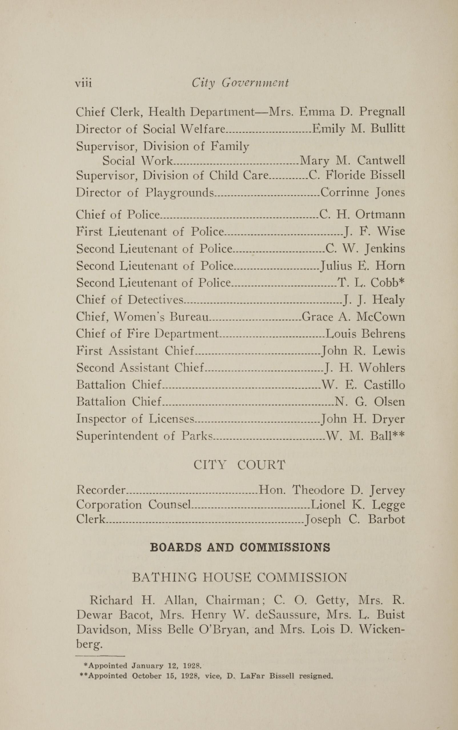 Charleston Yearbook, 1928, page viii