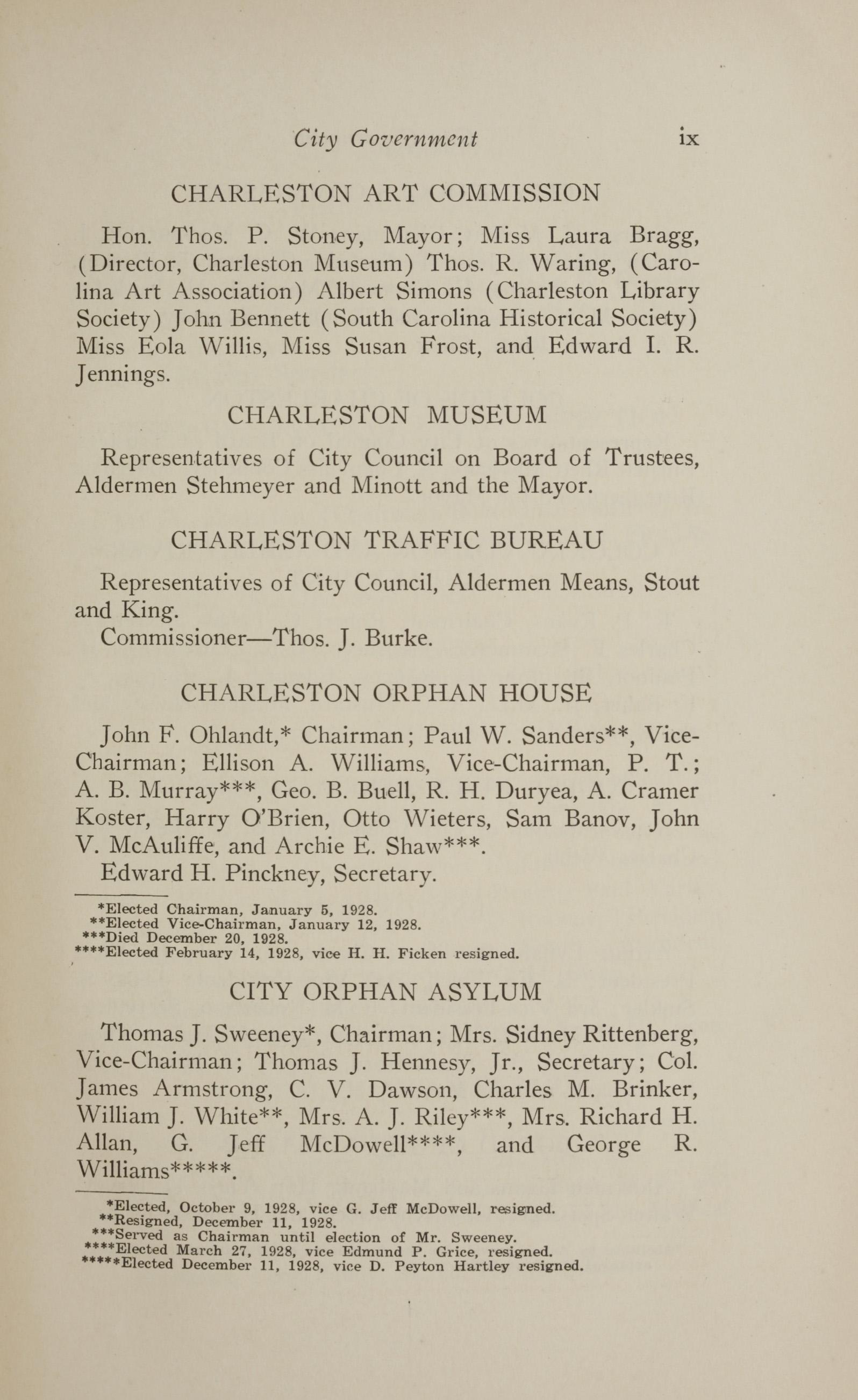 Charleston Yearbook, 1928, page ix