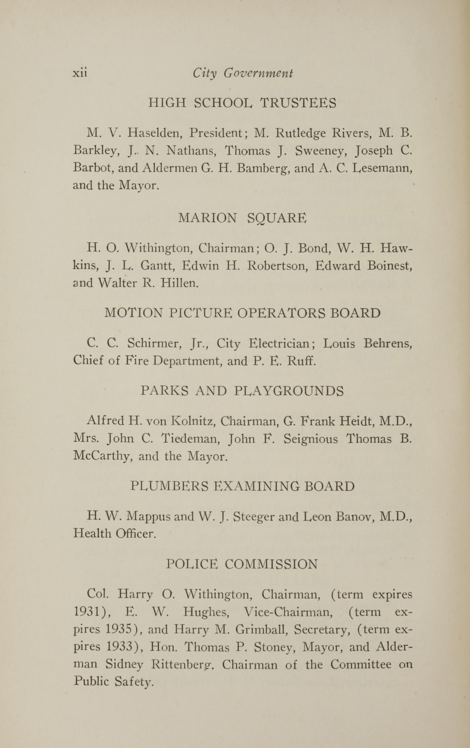 Charleston Yearbook, 1928, page xii