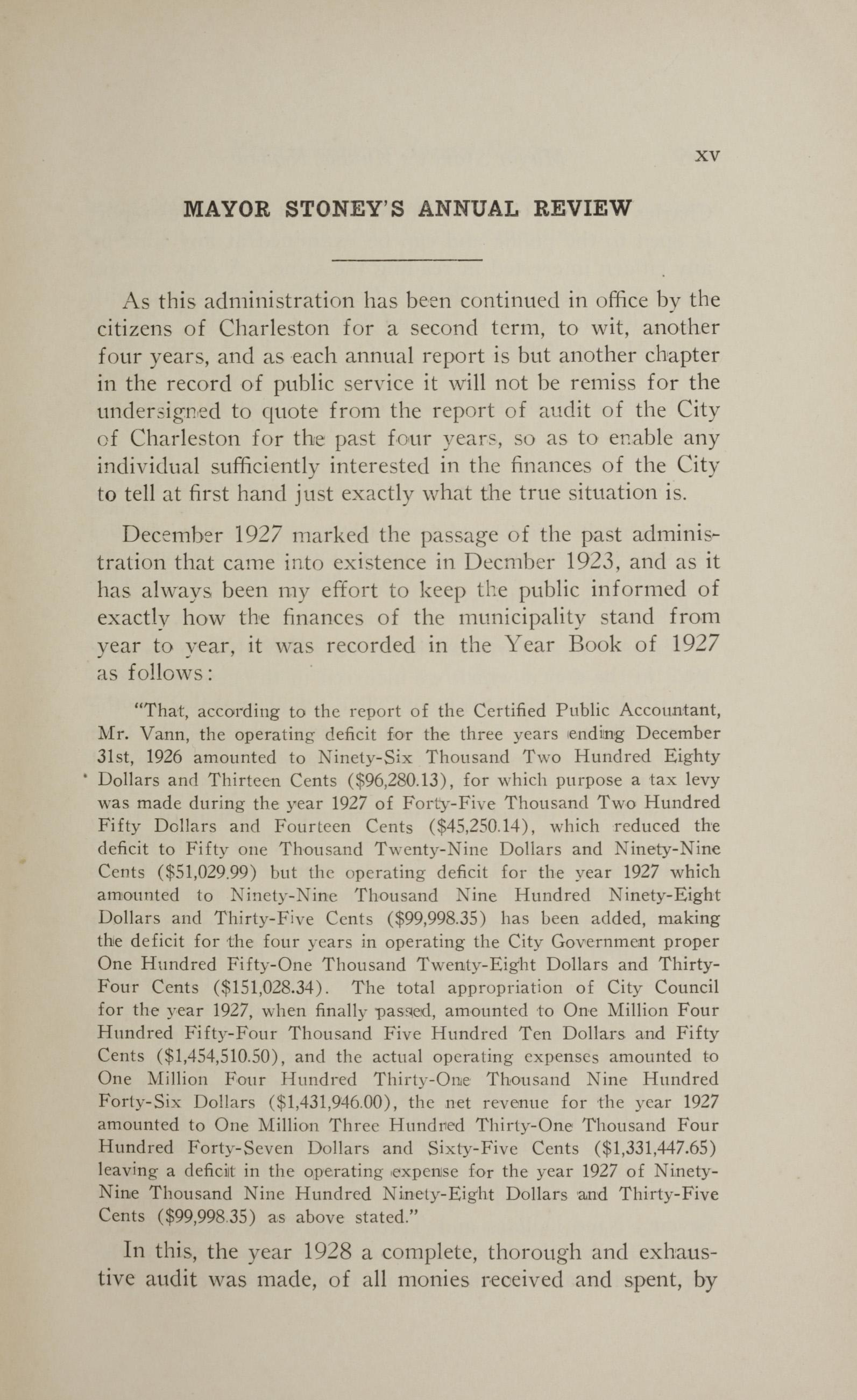 Charleston Yearbook, 1928, page xv