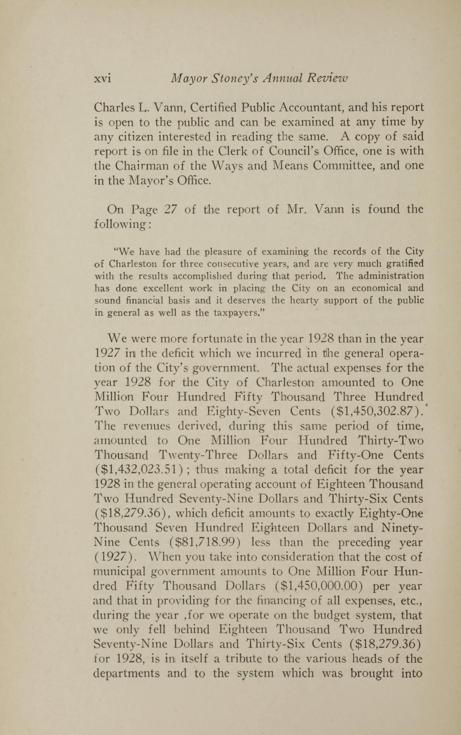 Charleston Yearbook, 1928, page xvi
