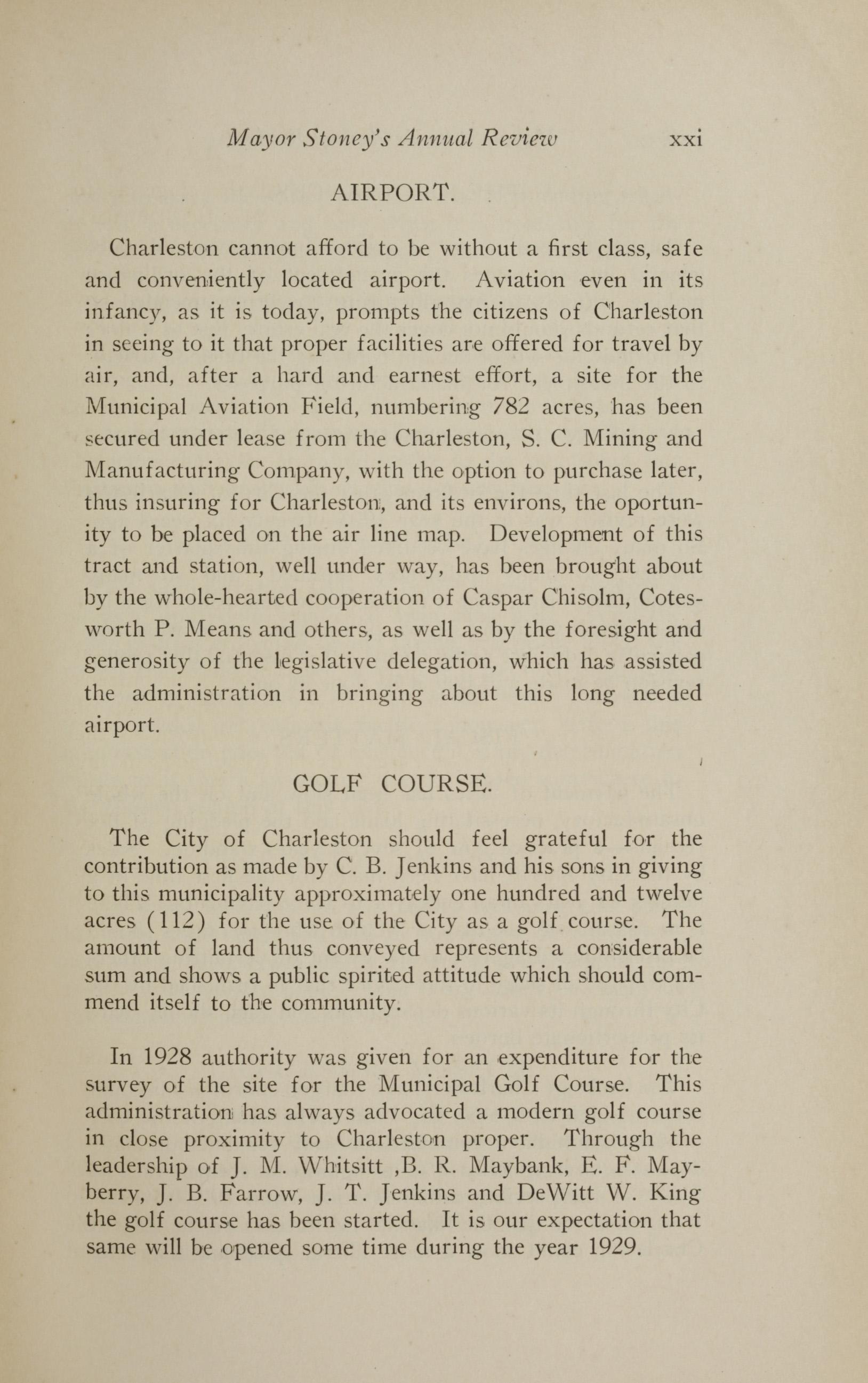 Charleston Yearbook, 1928, page xxi