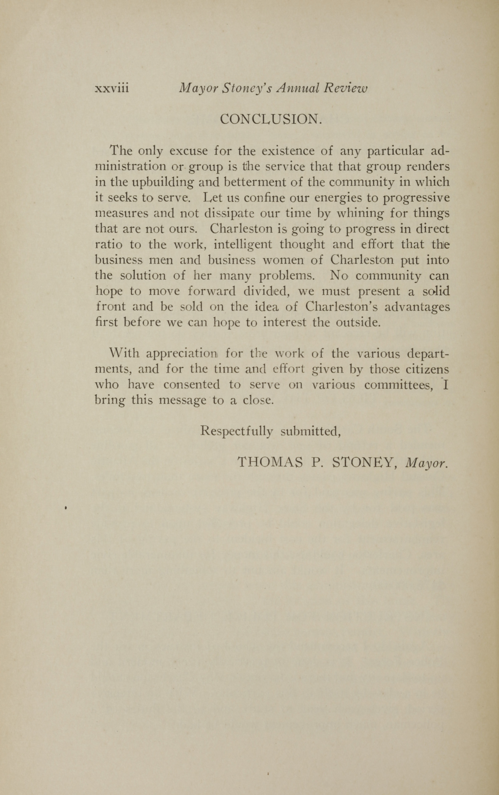 Charleston Yearbook, 1928, page xxviii