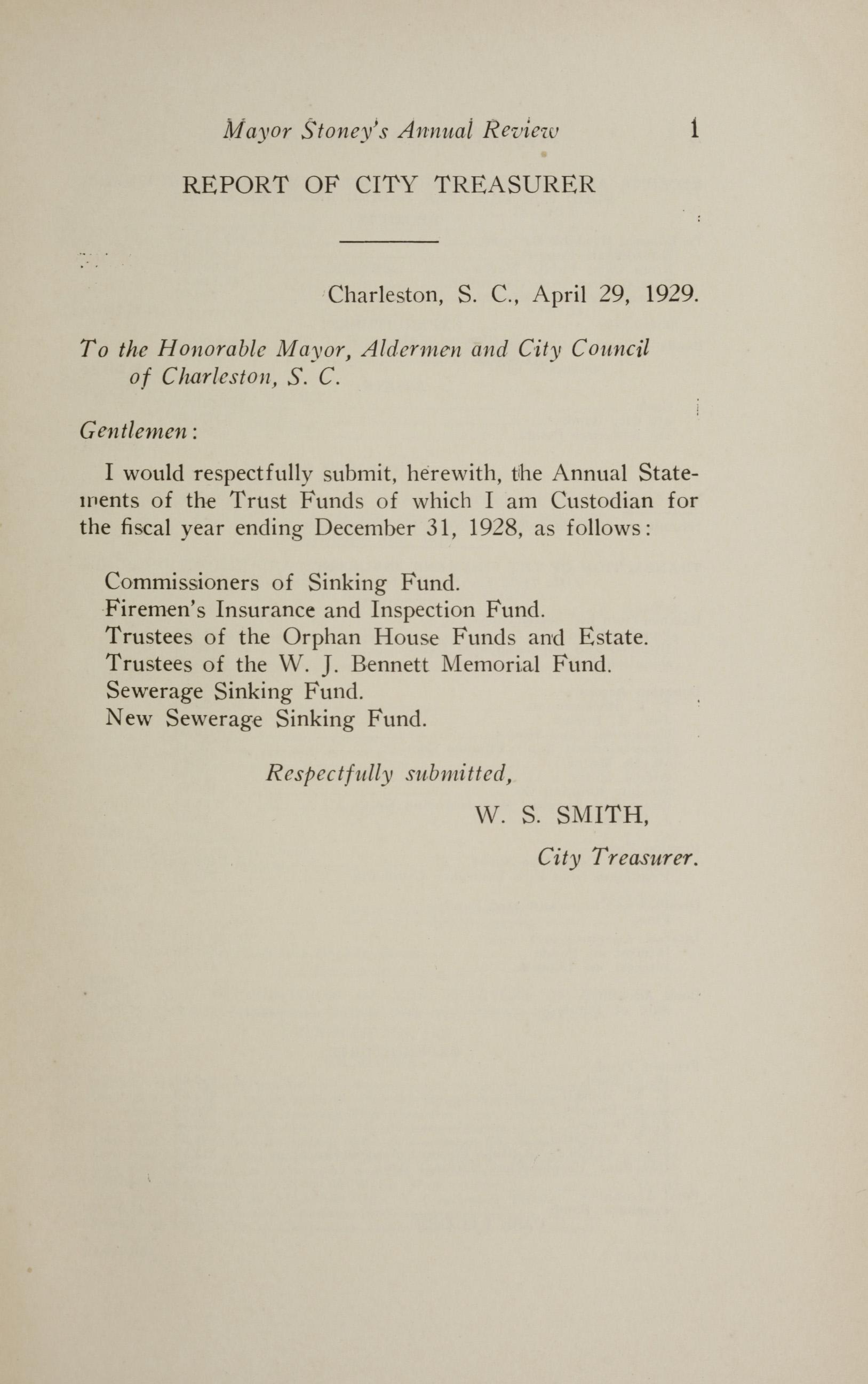 Charleston Yearbook, 1928, page 1
