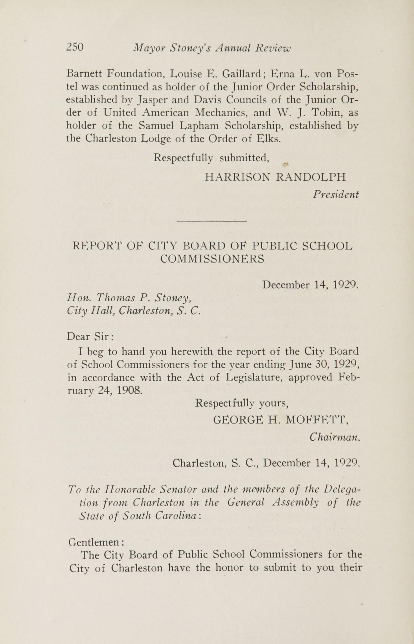 Charleston Yearbook, 1929, page 250