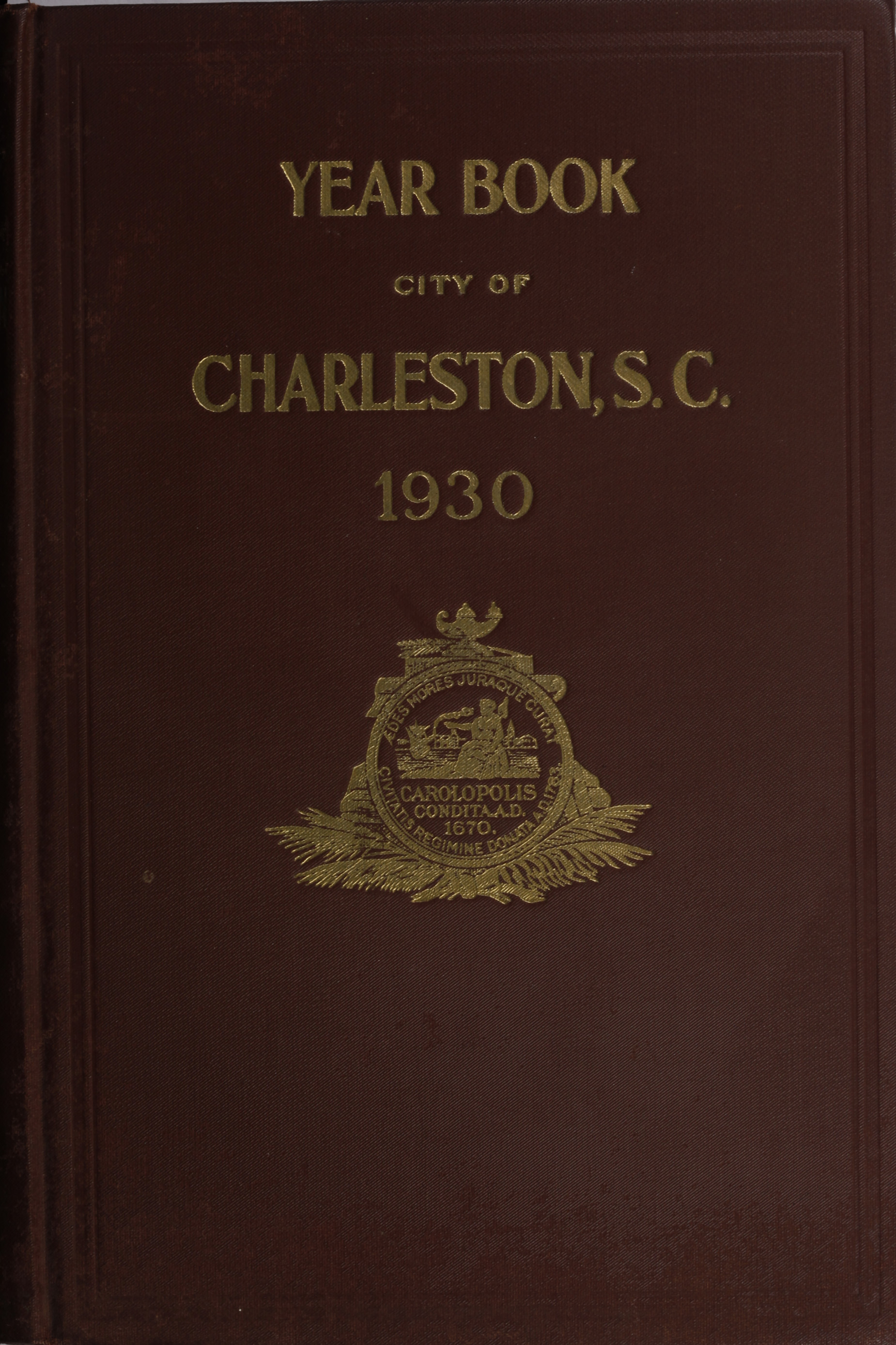 Charleston Yearbook, 1930, cover