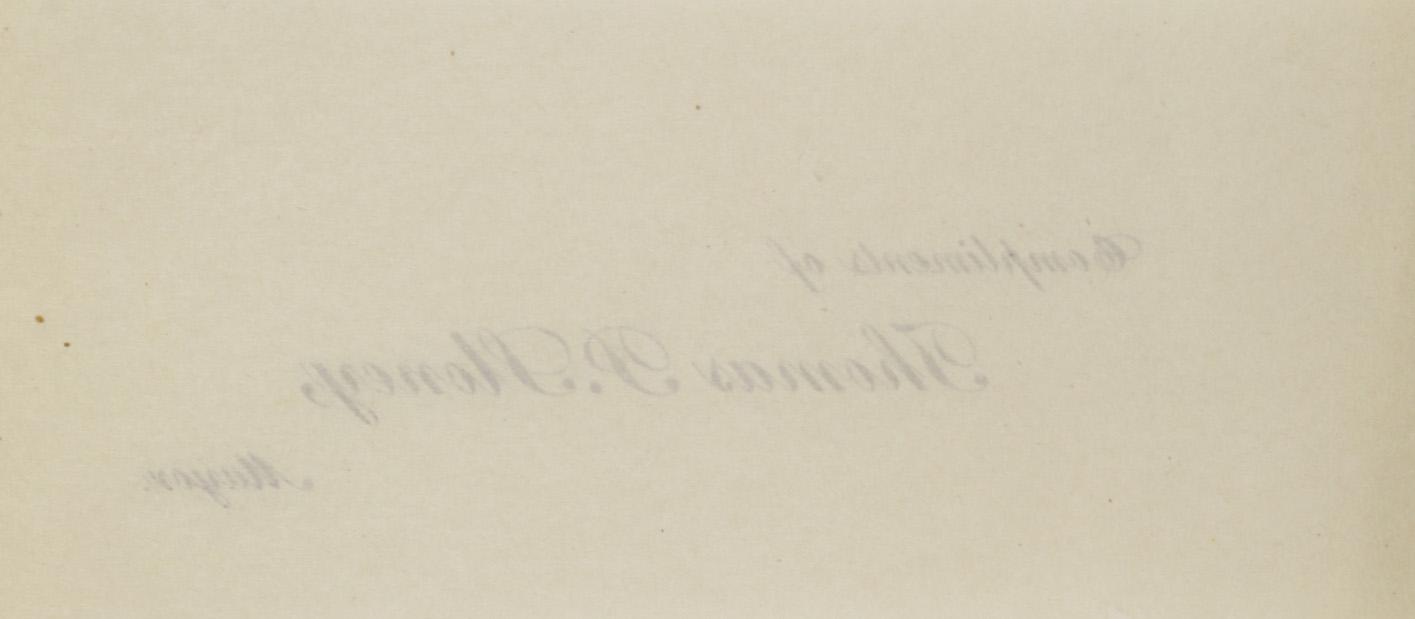 Charleston Yearbook, 1930, blank back of insert
