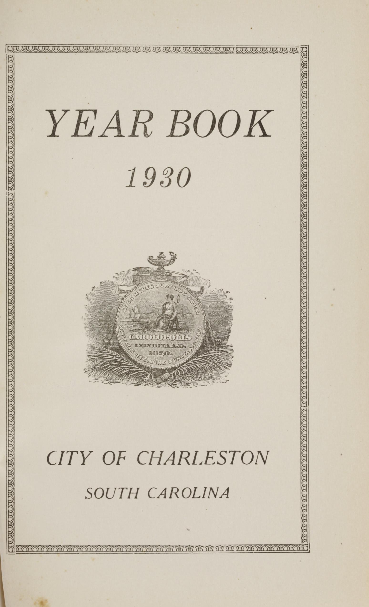 Charleston Yearbook, 1930, page i