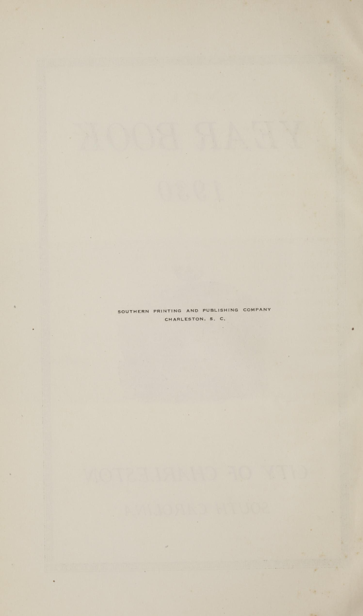 Charleston Yearbook, 1930, page ii