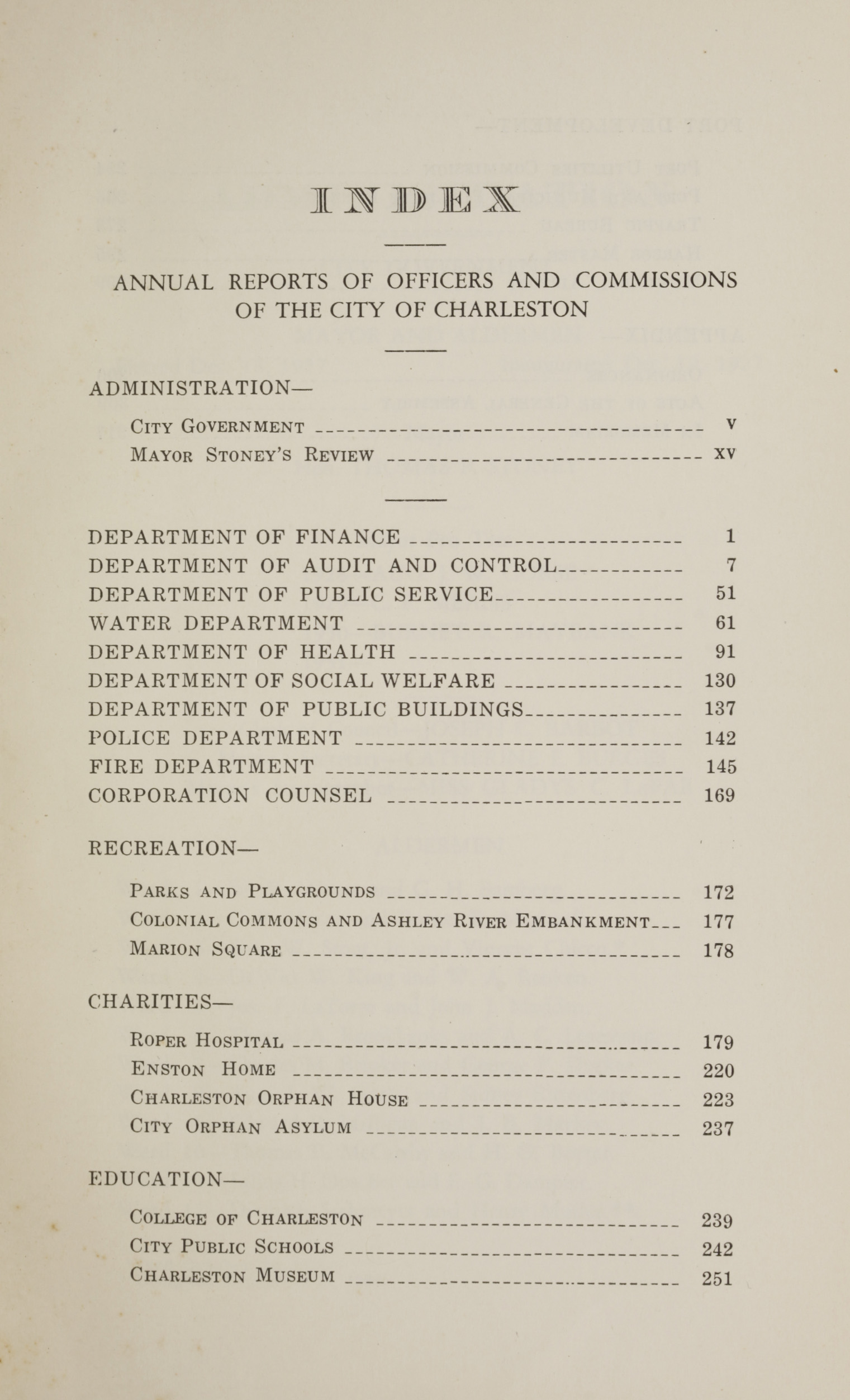 Charleston Yearbook, 1930, page iii