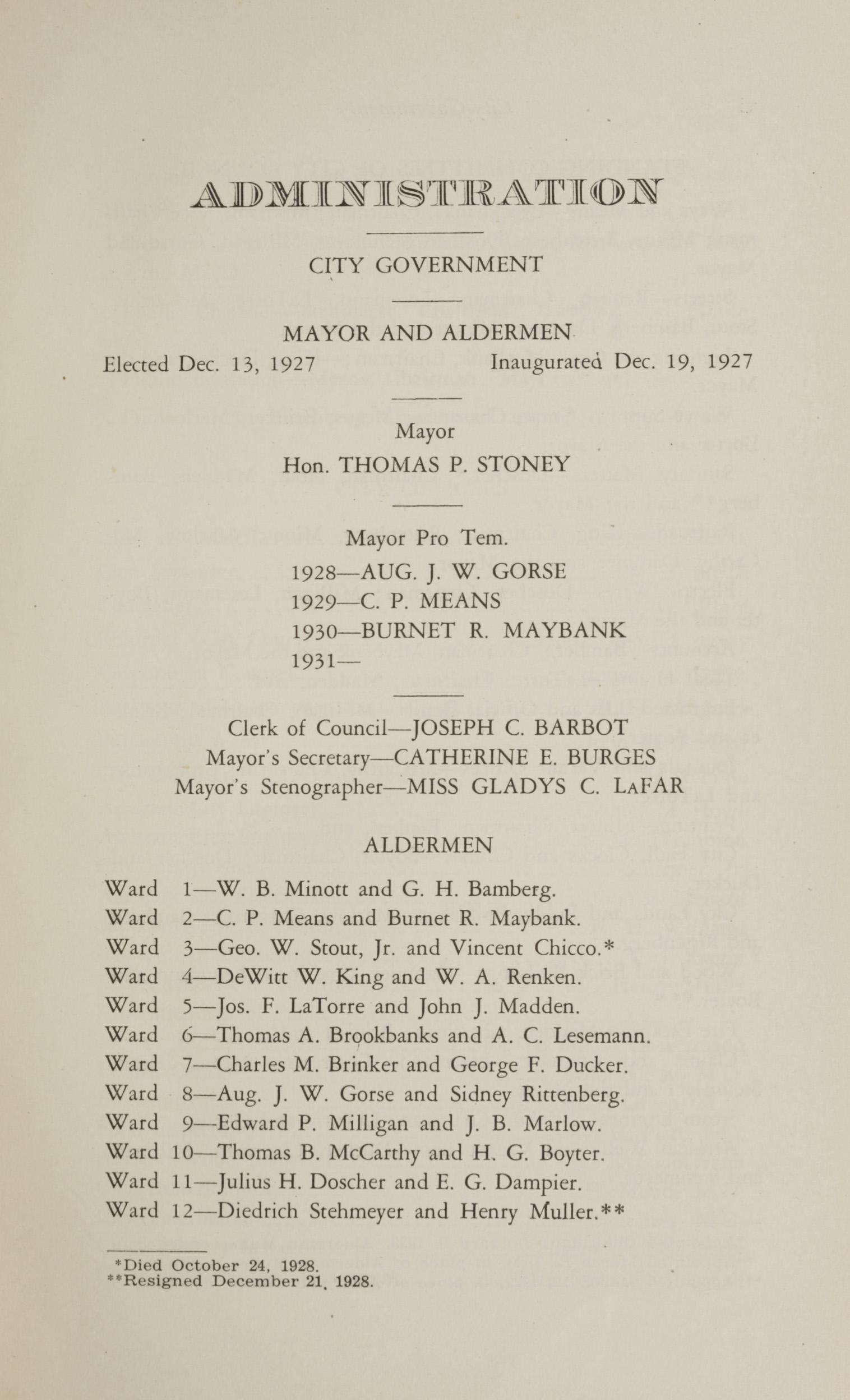 Charleston Yearbook, 1930, page v