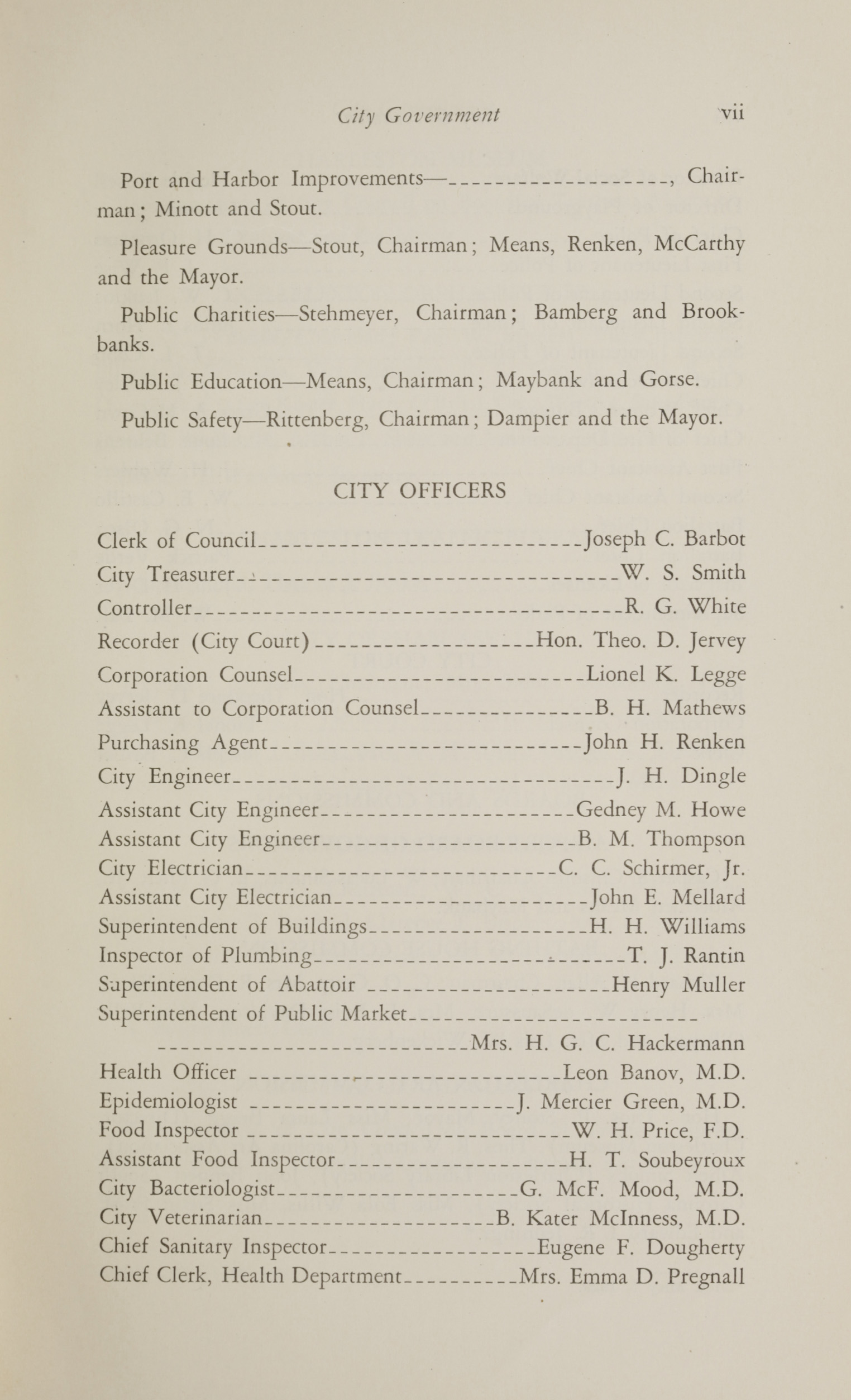 Charleston Yearbook, 1930, page vii