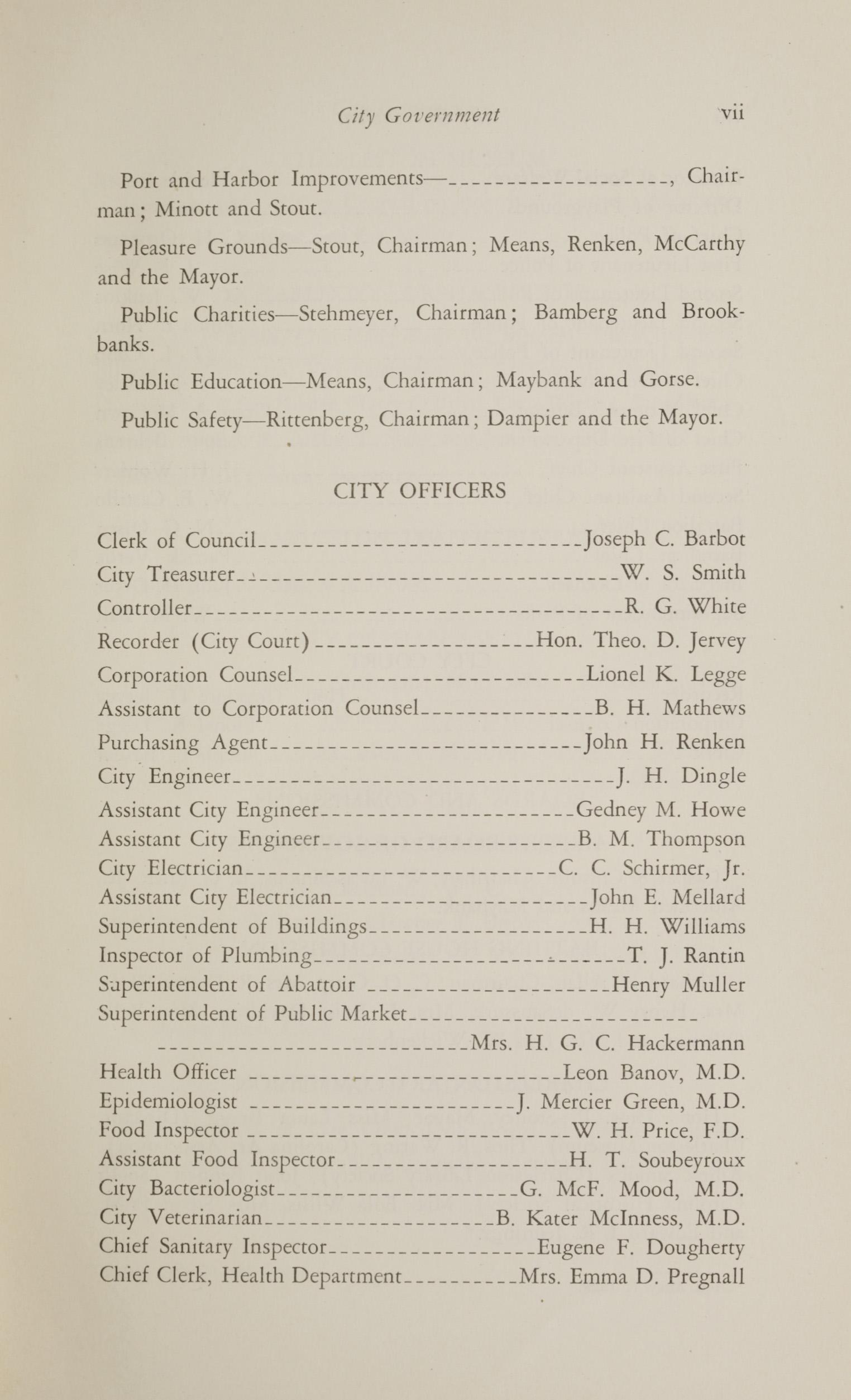 Charleston Yearbook, 1930, page vii