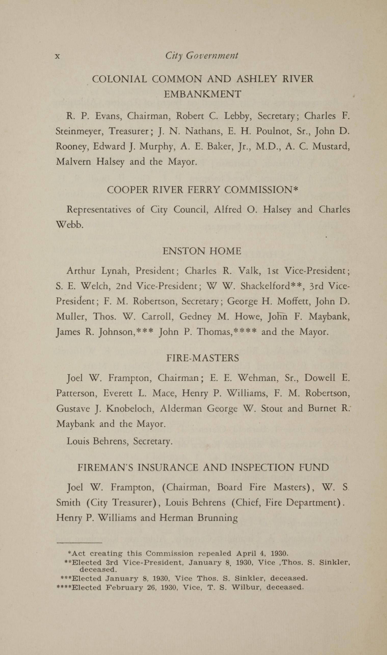 Charleston Yearbook, 1930, page x