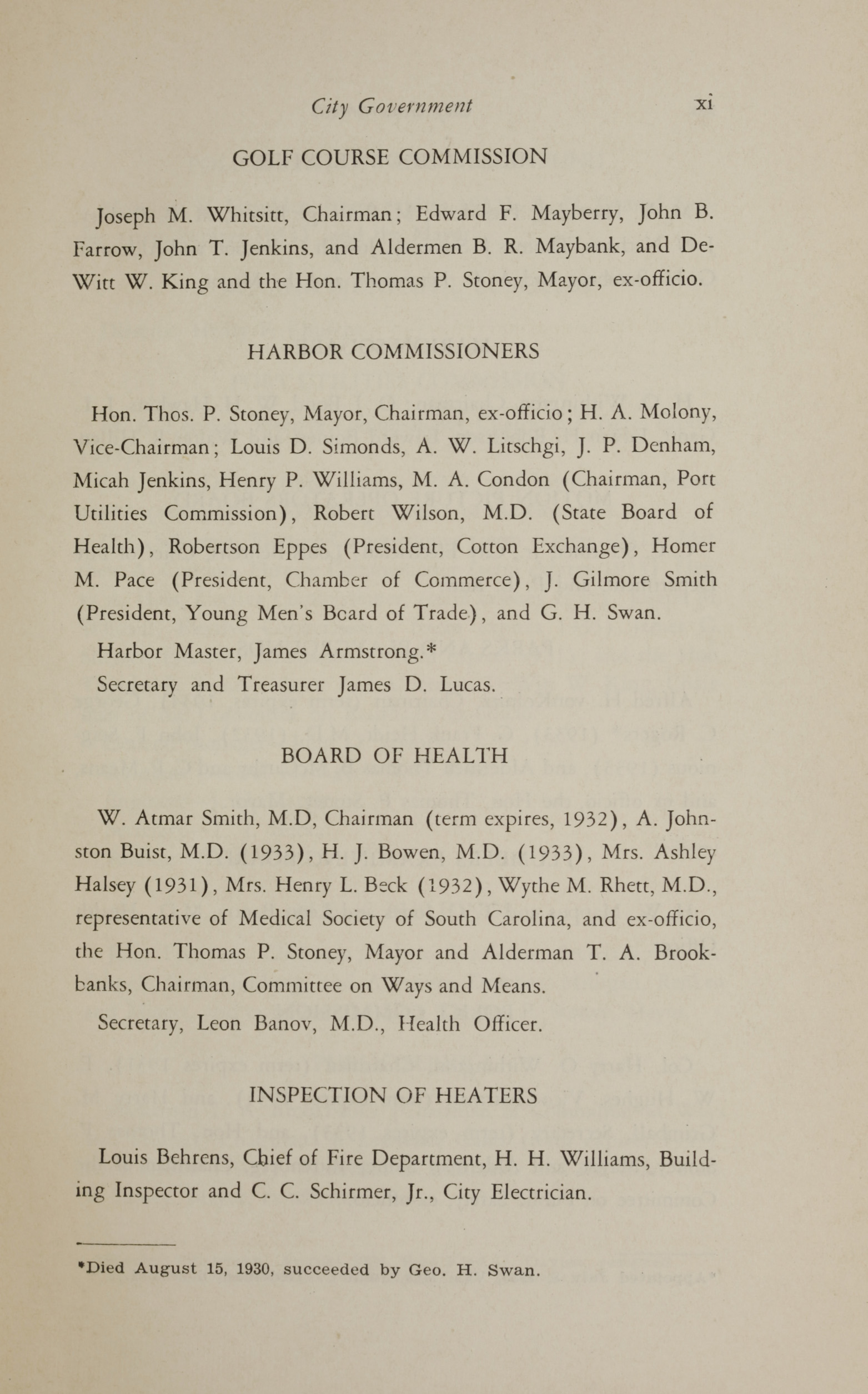 Charleston Yearbook, 1930, page xi