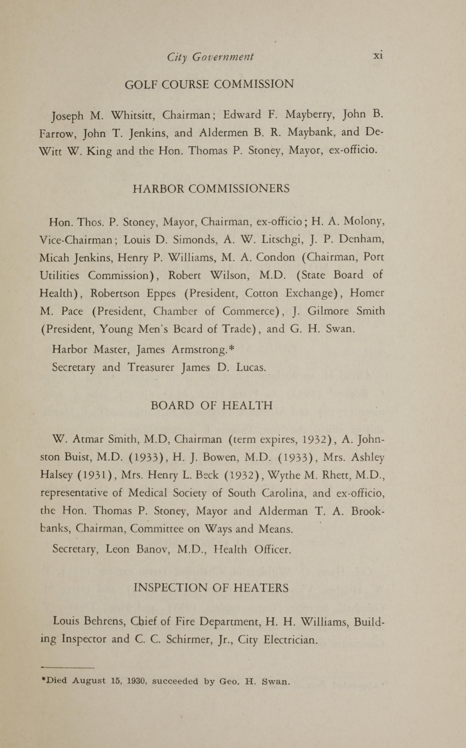 Charleston Yearbook, 1930, page xi
