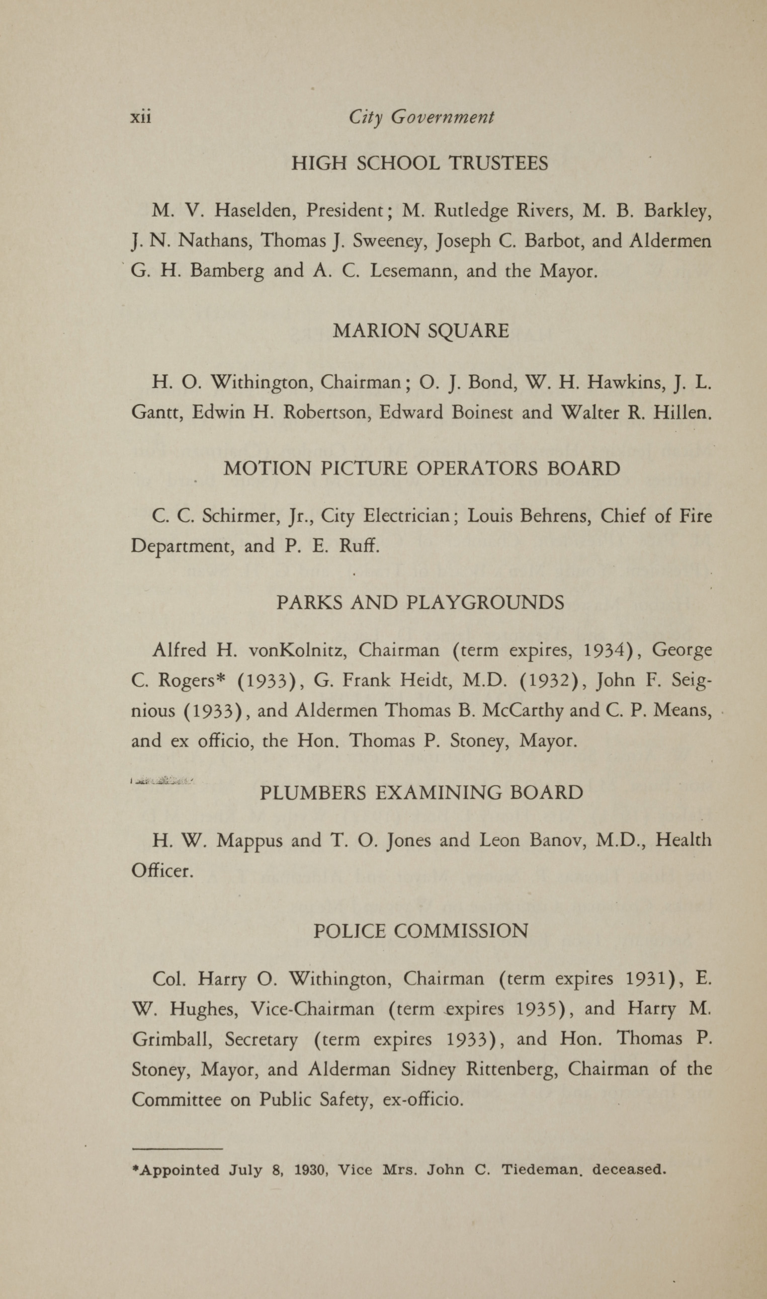 Charleston Yearbook, 1930, page xii
