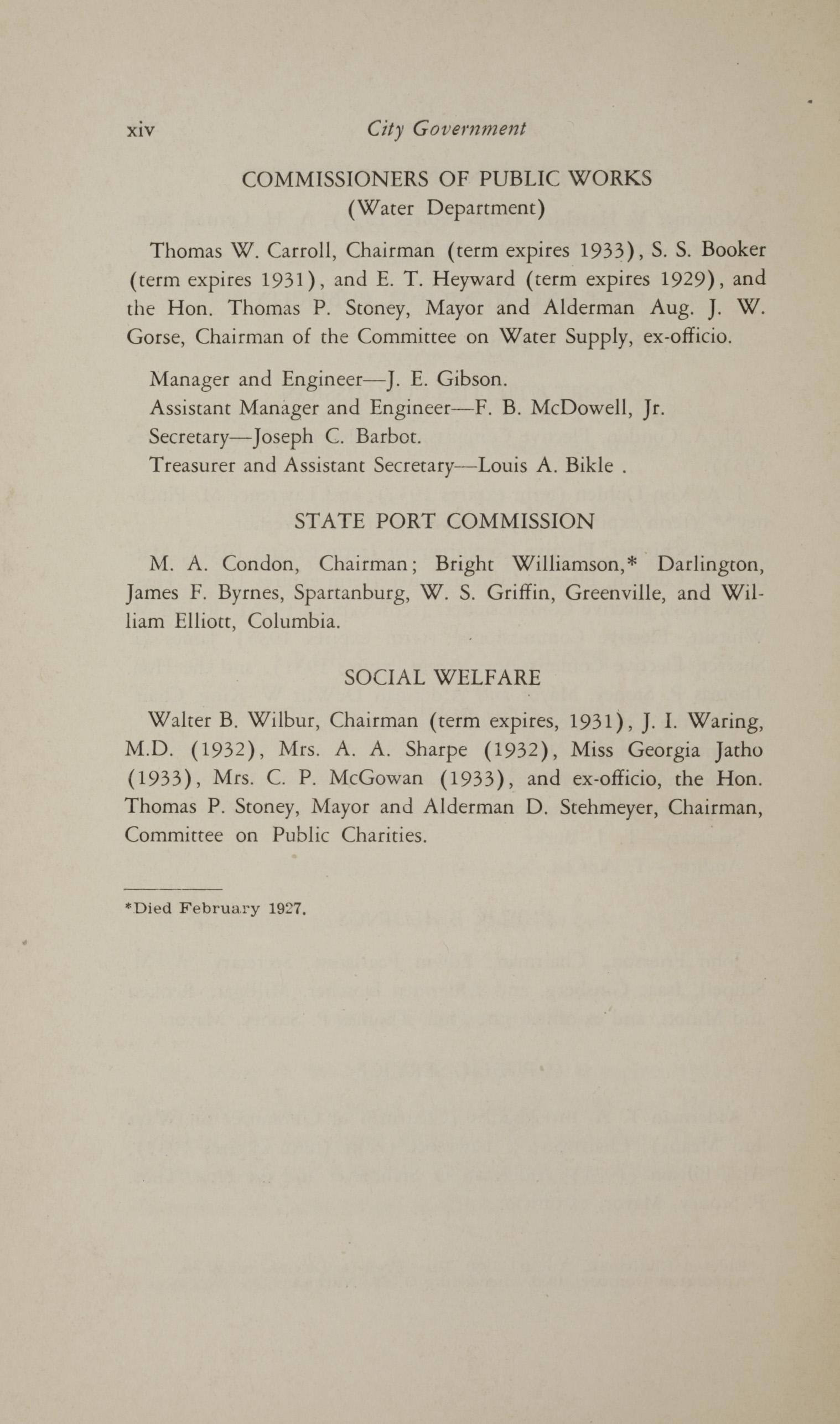 Charleston Yearbook, 1930, page xiv