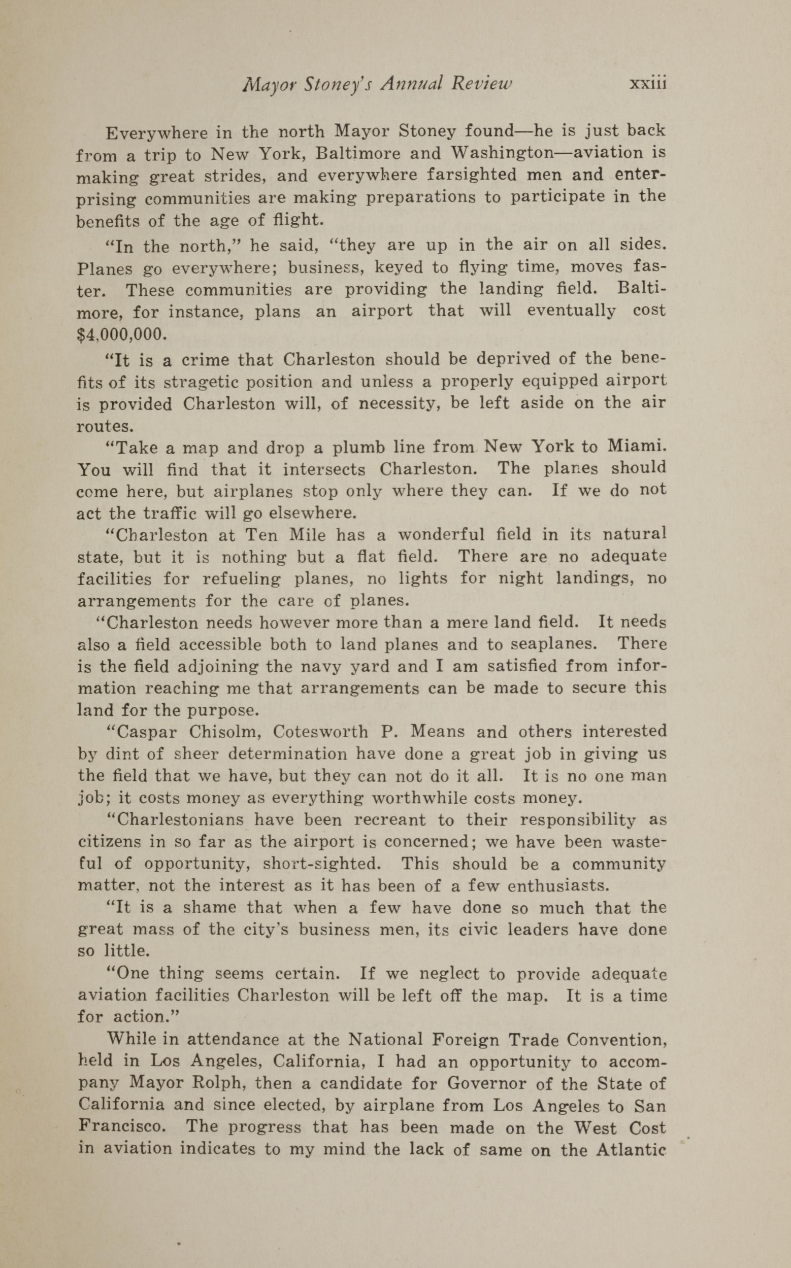 Charleston Yearbook, 1930, page xxiii
