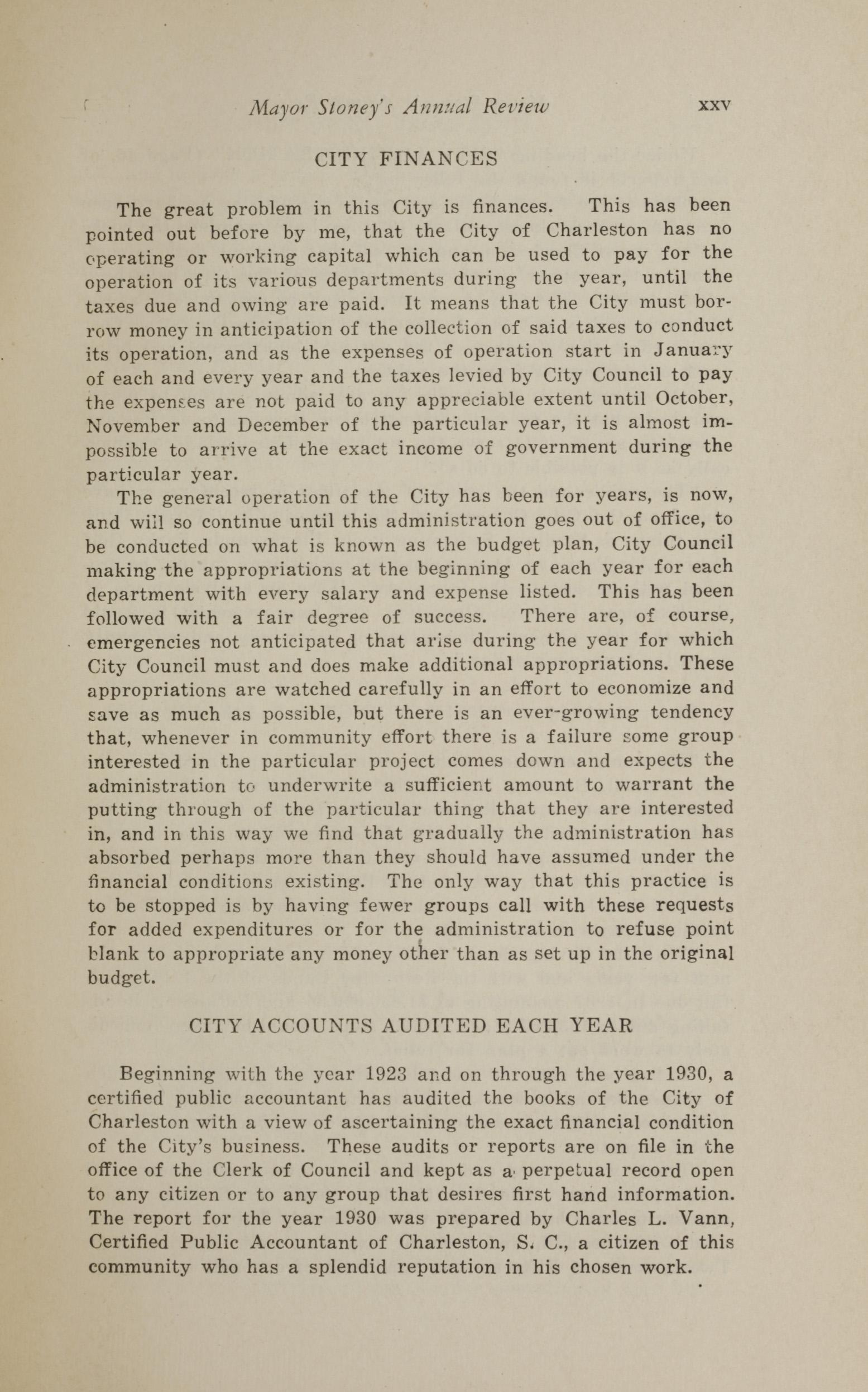 Charleston Yearbook, 1930, page xxv
