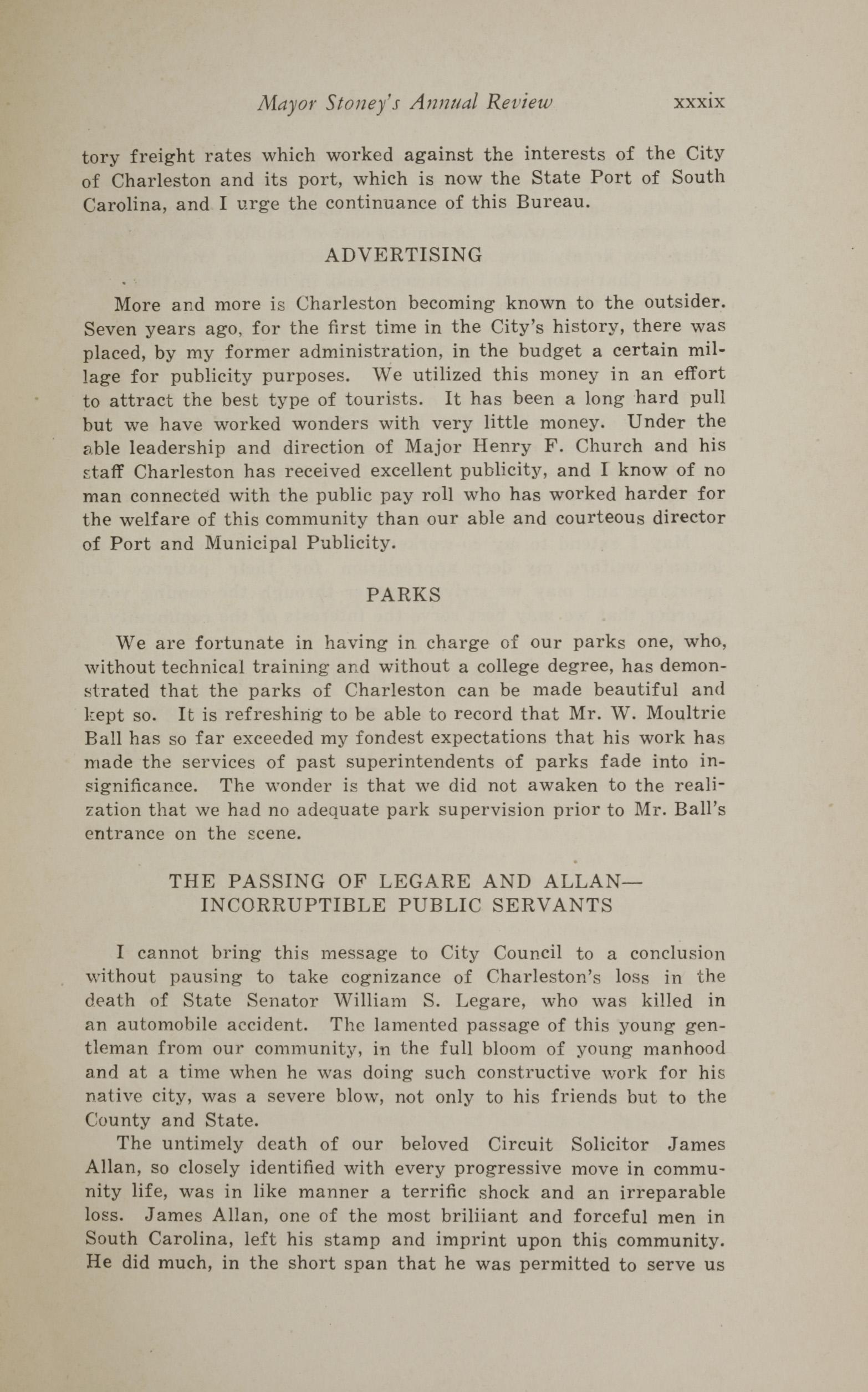 Charleston Yearbook, 1930, page xxxix