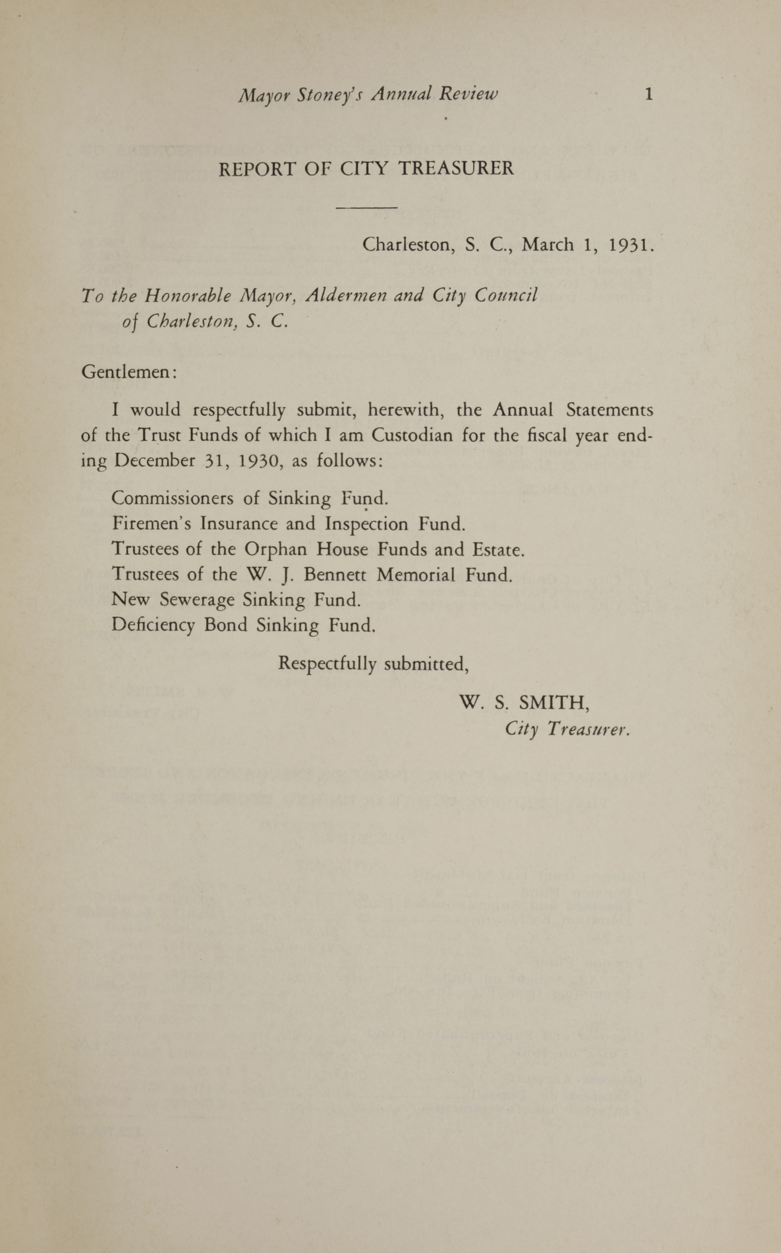 Charleston Yearbook, 1930, page 1