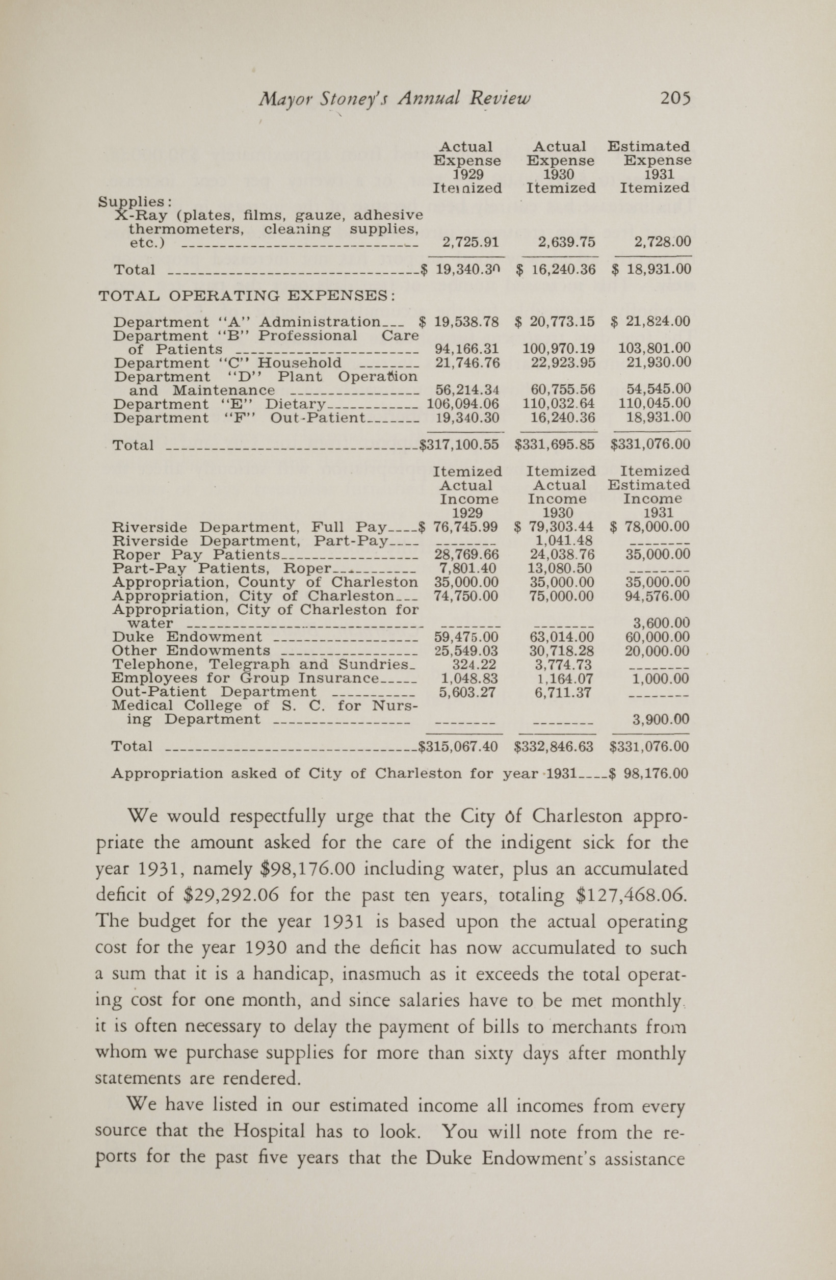 Charleston Yearbook, 1930, page 205