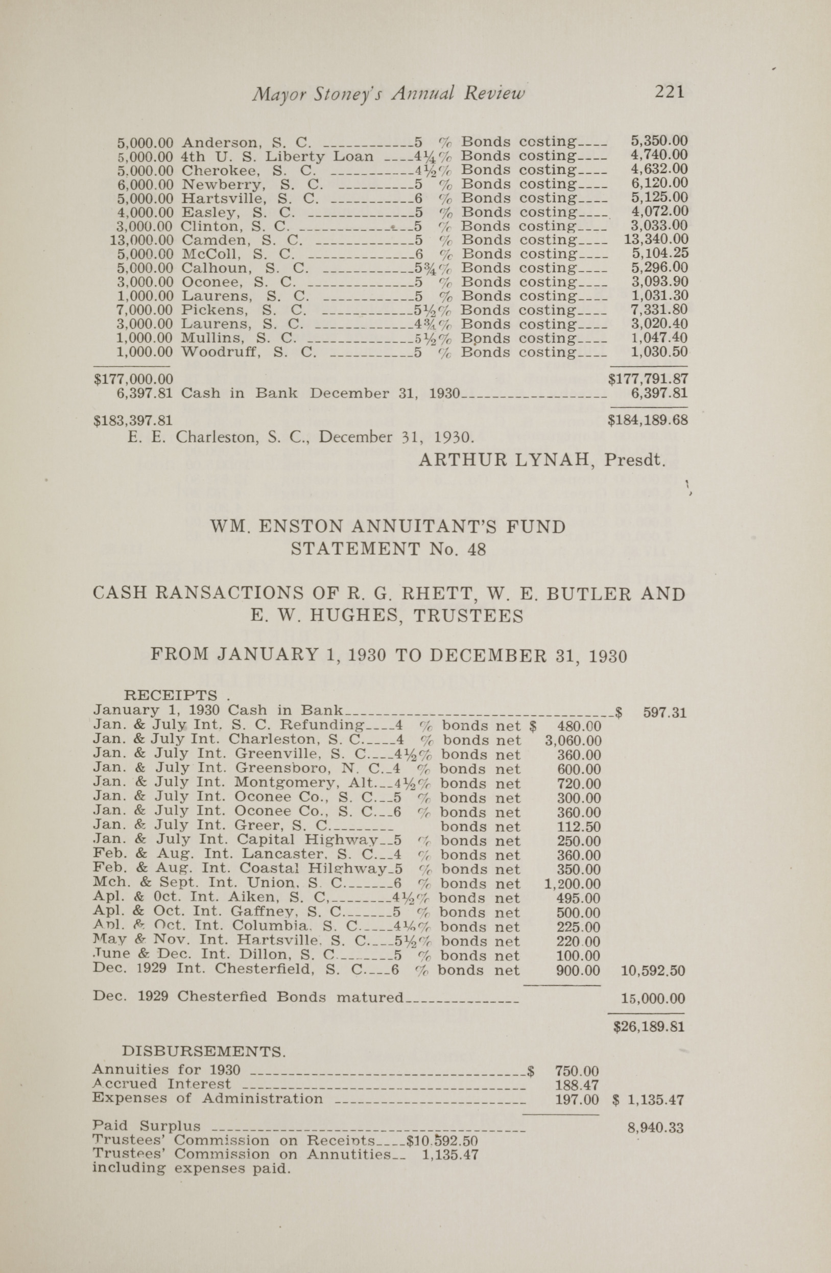 Charleston Yearbook, 1930, page 221