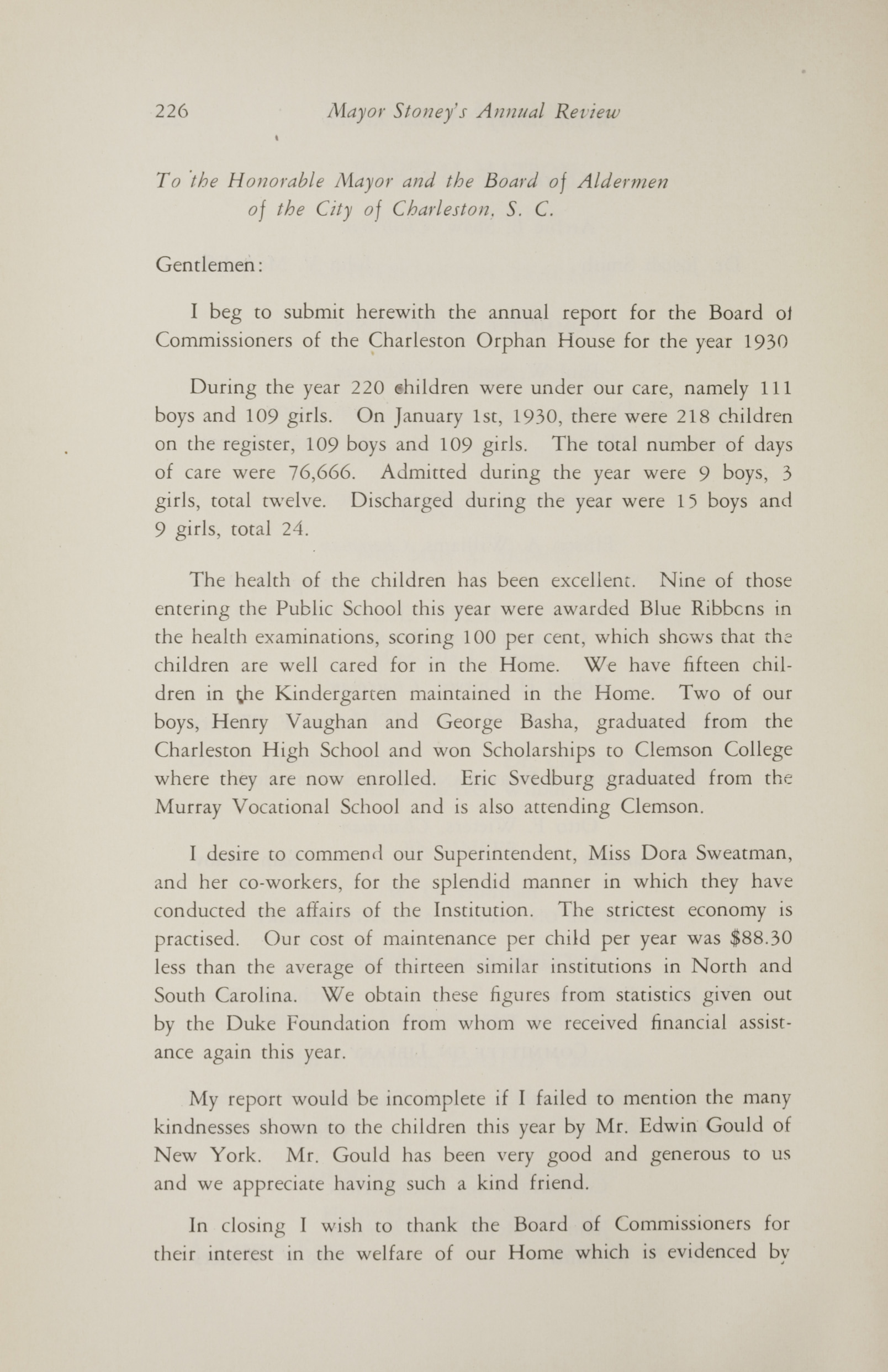 Charleston Yearbook, 1930, page 226