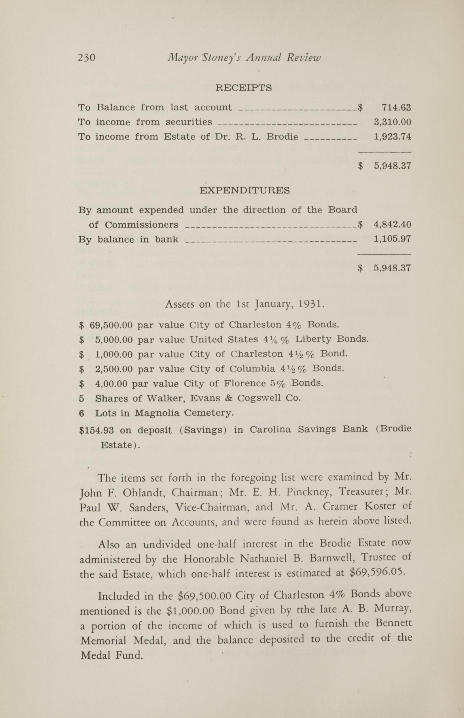 Charleston Yearbook, 1930, page 230