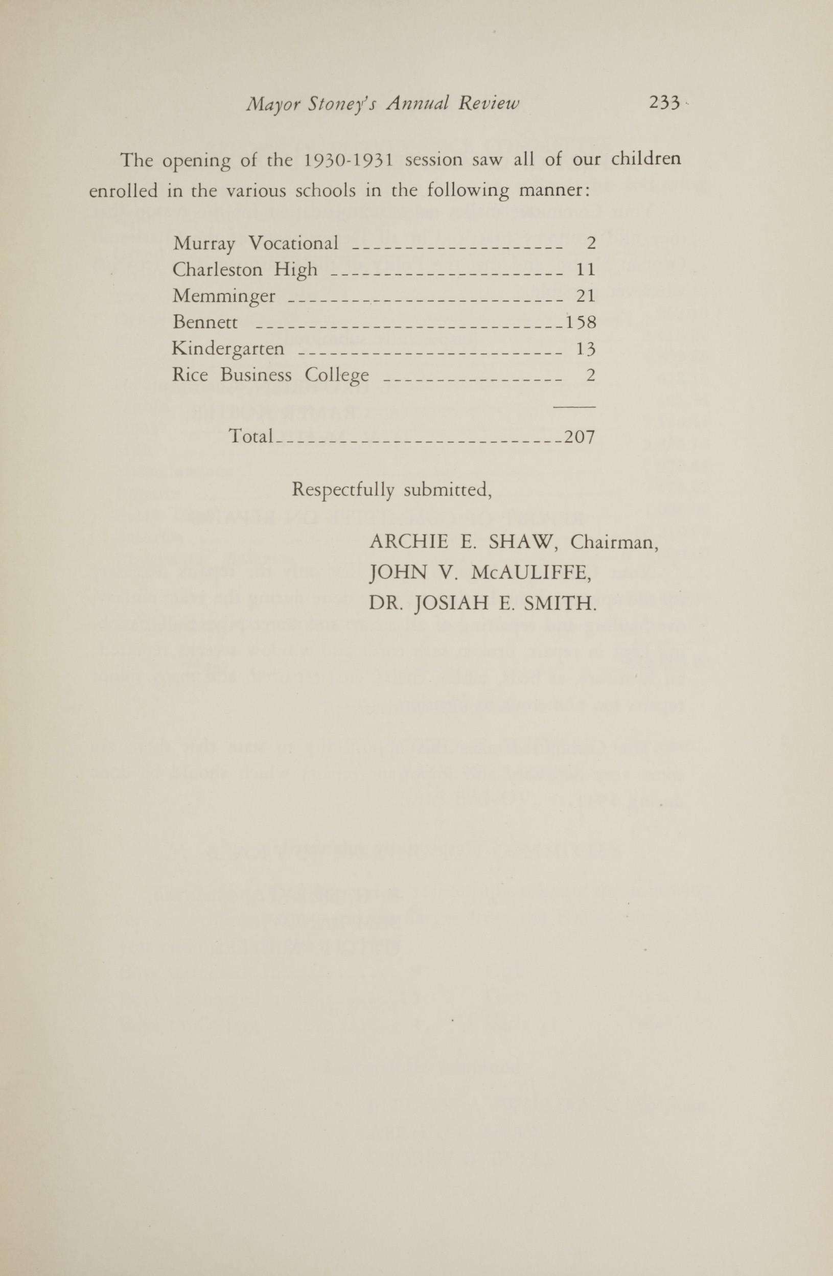 Charleston Yearbook, 1930, page 233