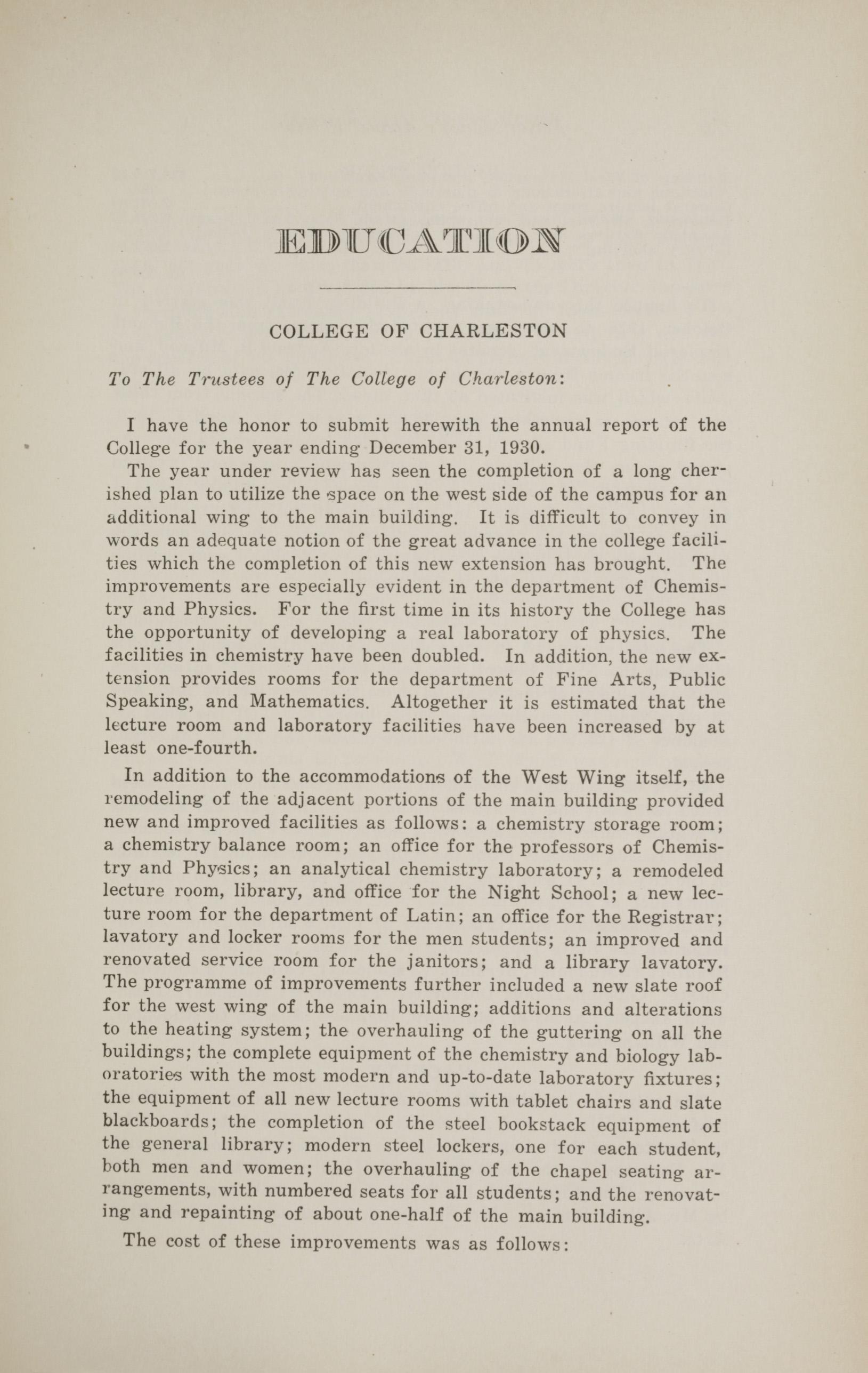 Charleston Yearbook, 1930, page 239