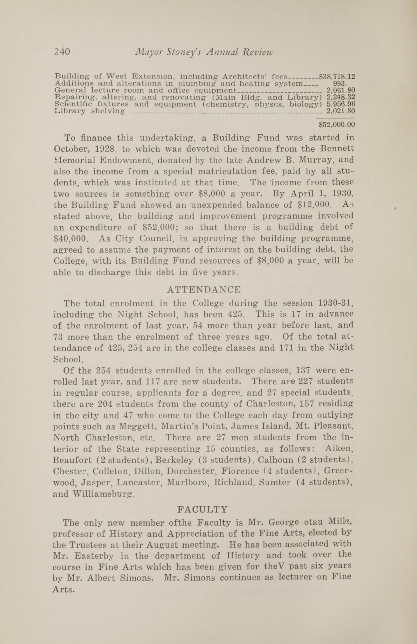 Charleston Yearbook, 1930, page 240