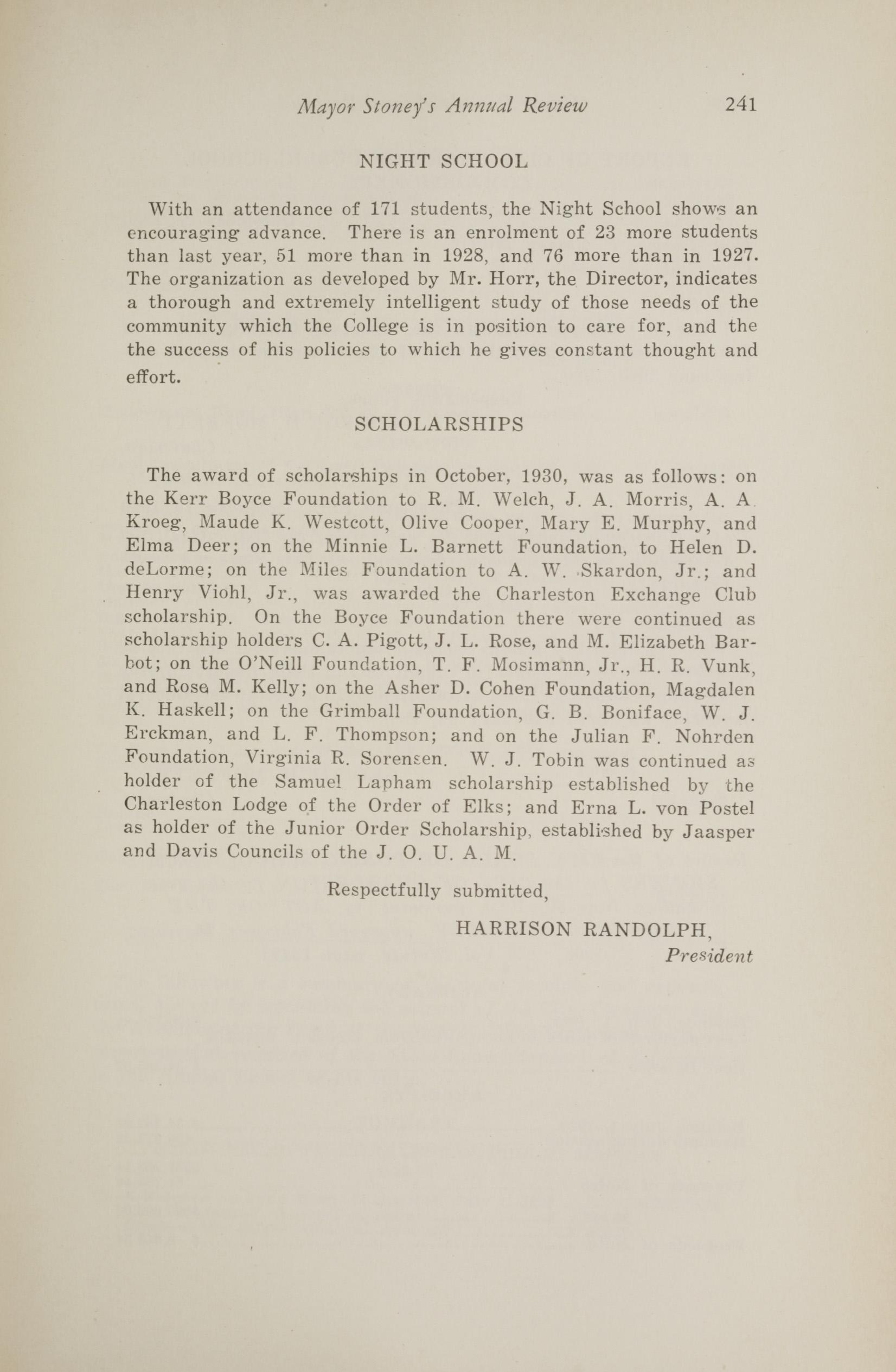 Charleston Yearbook, 1930, page 241