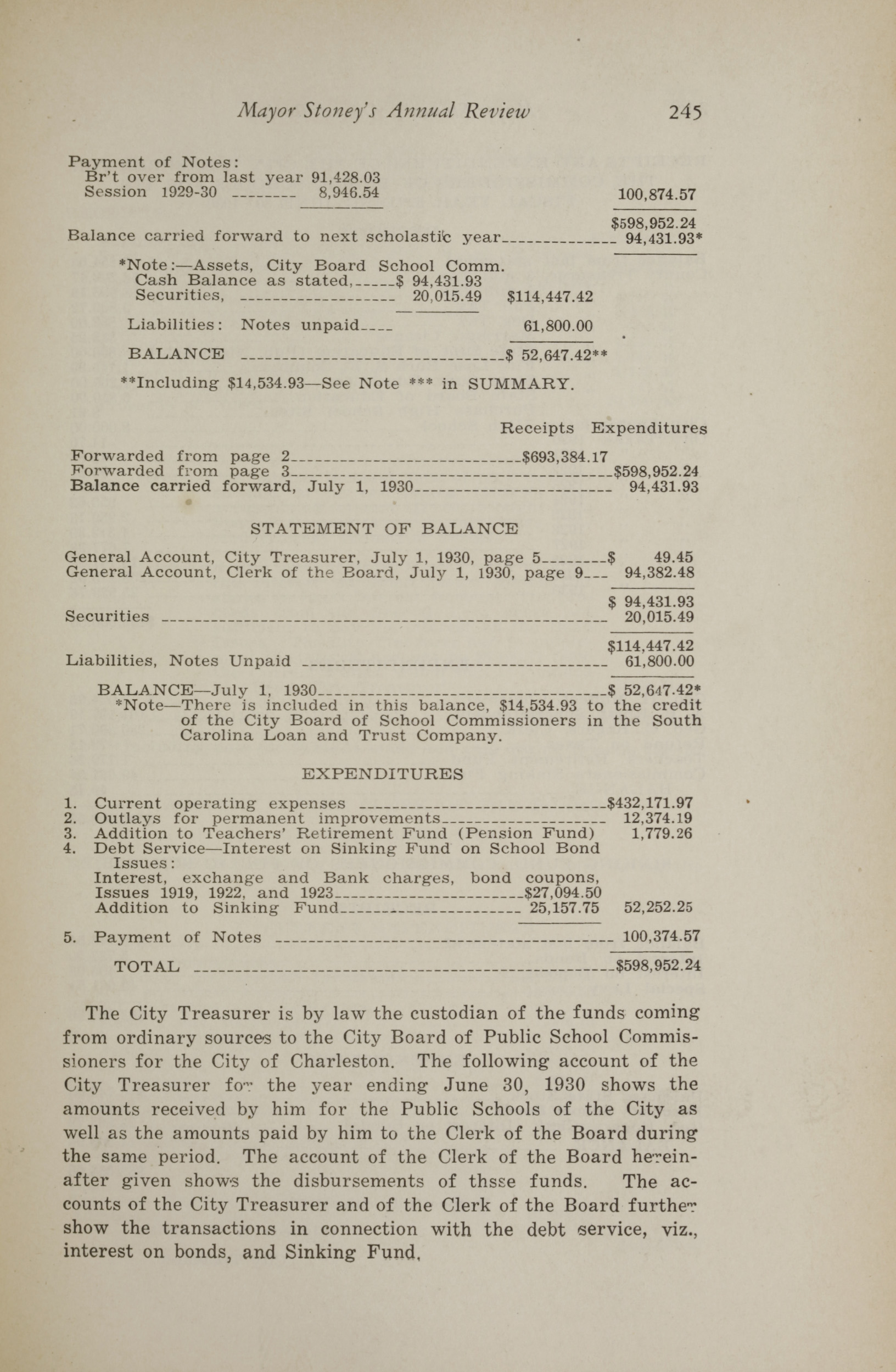 Charleston Yearbook, 1930, page 245