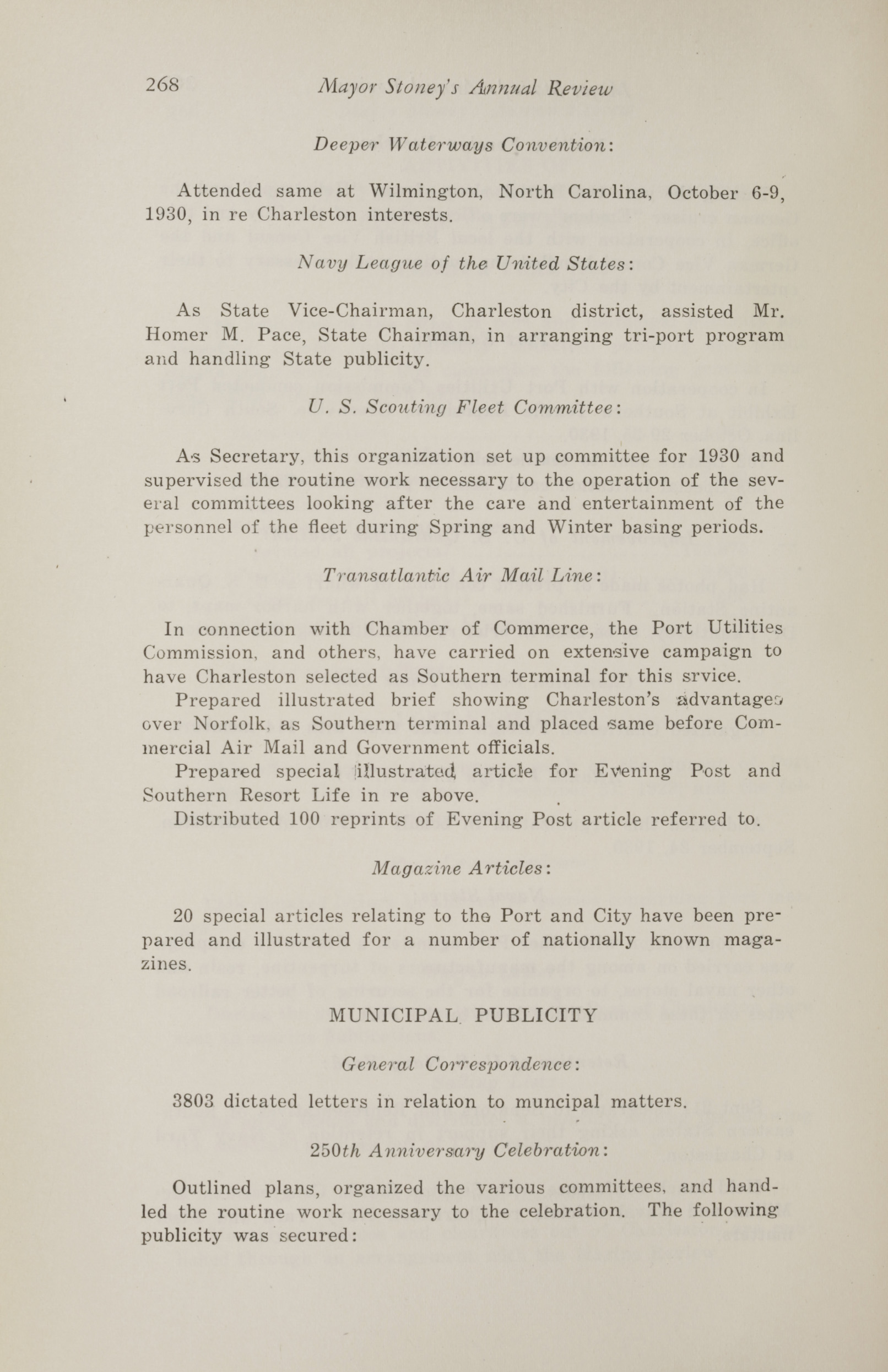 Charleston Yearbook, 1930, page 268
