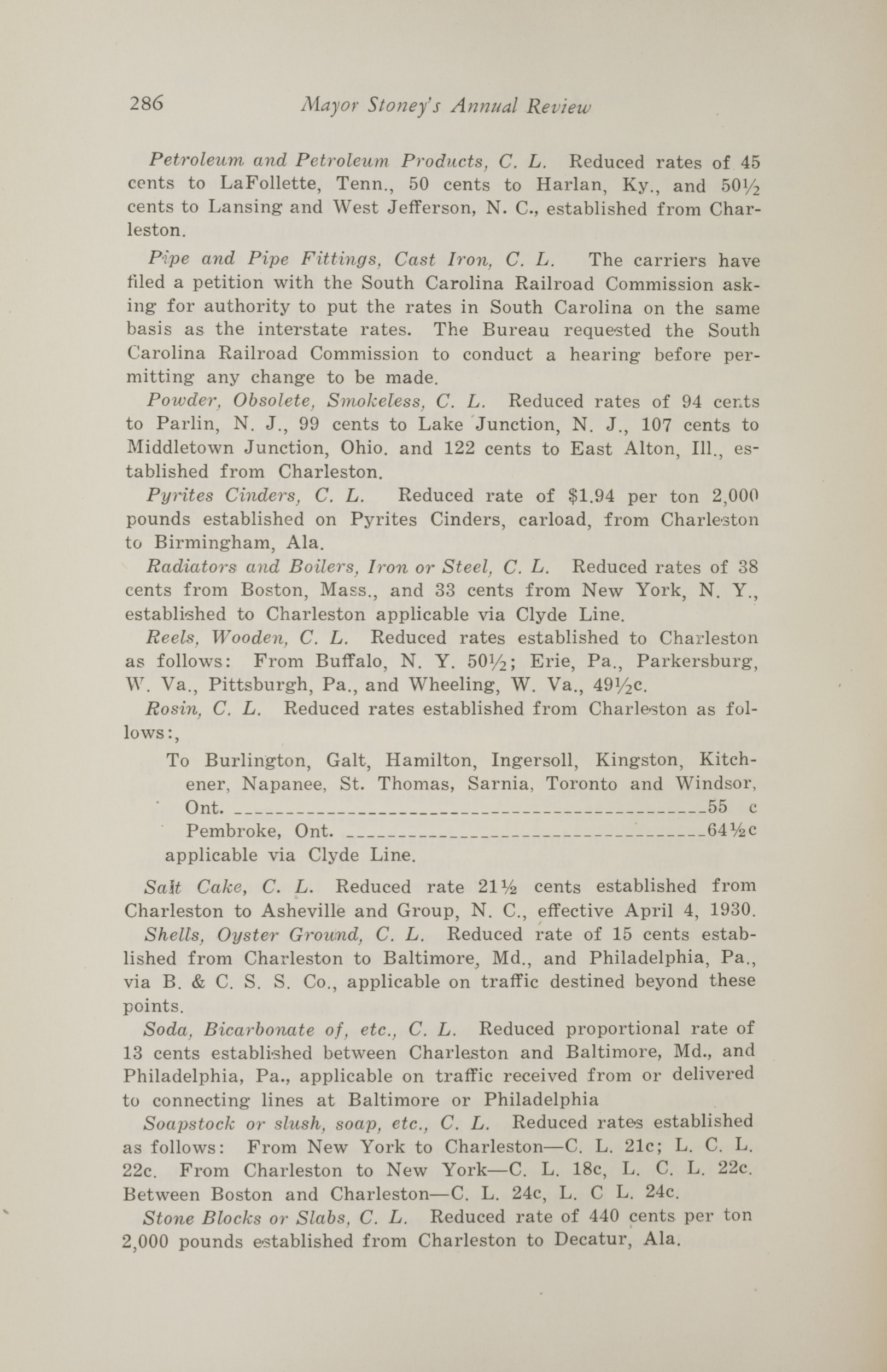 Charleston Yearbook, 1930, page 286