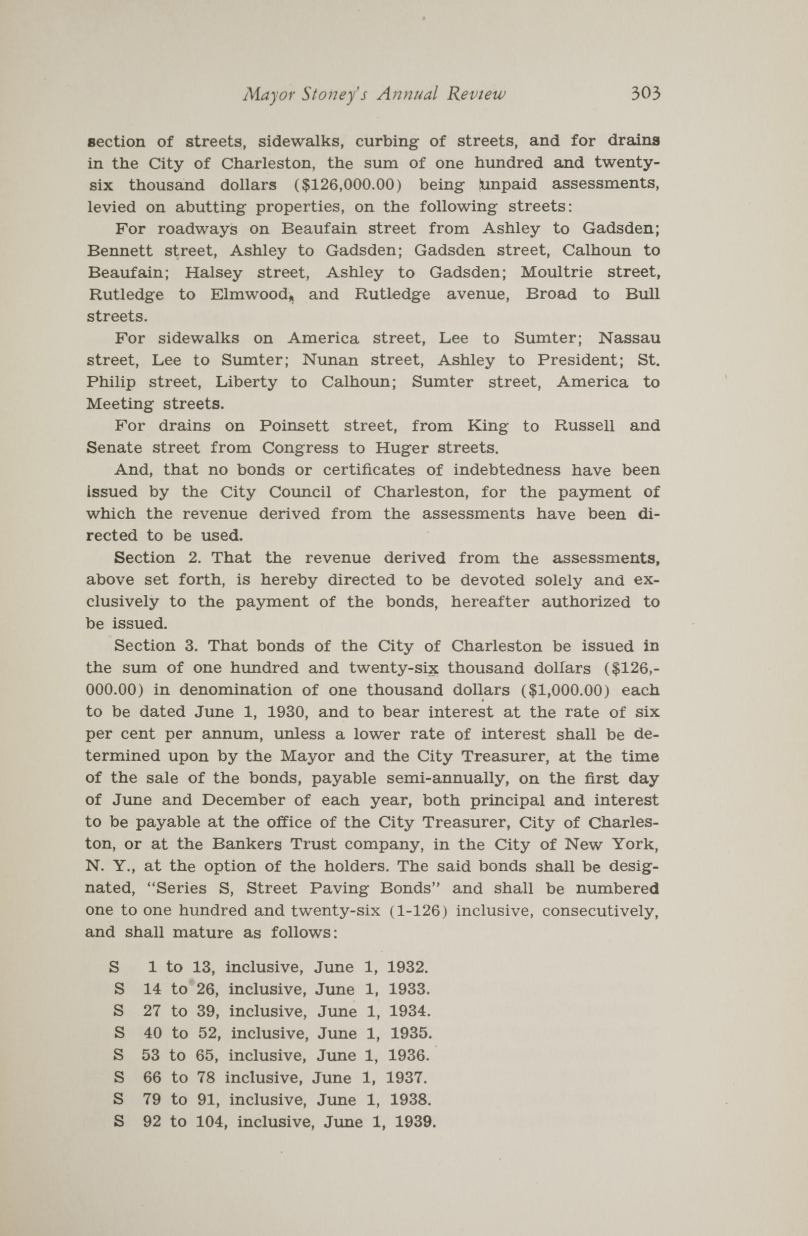 Charleston Yearbook, 1930, page 303