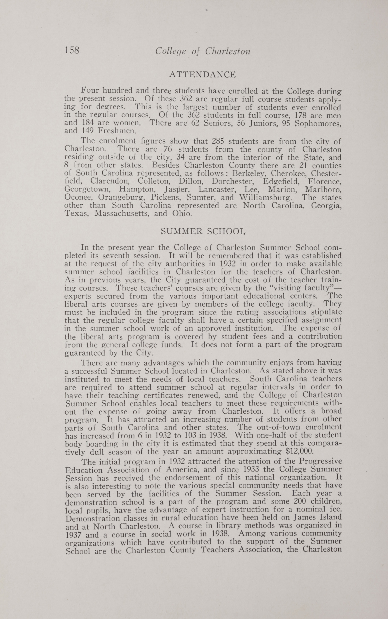 Charleston Yearbook, 1938, page 158