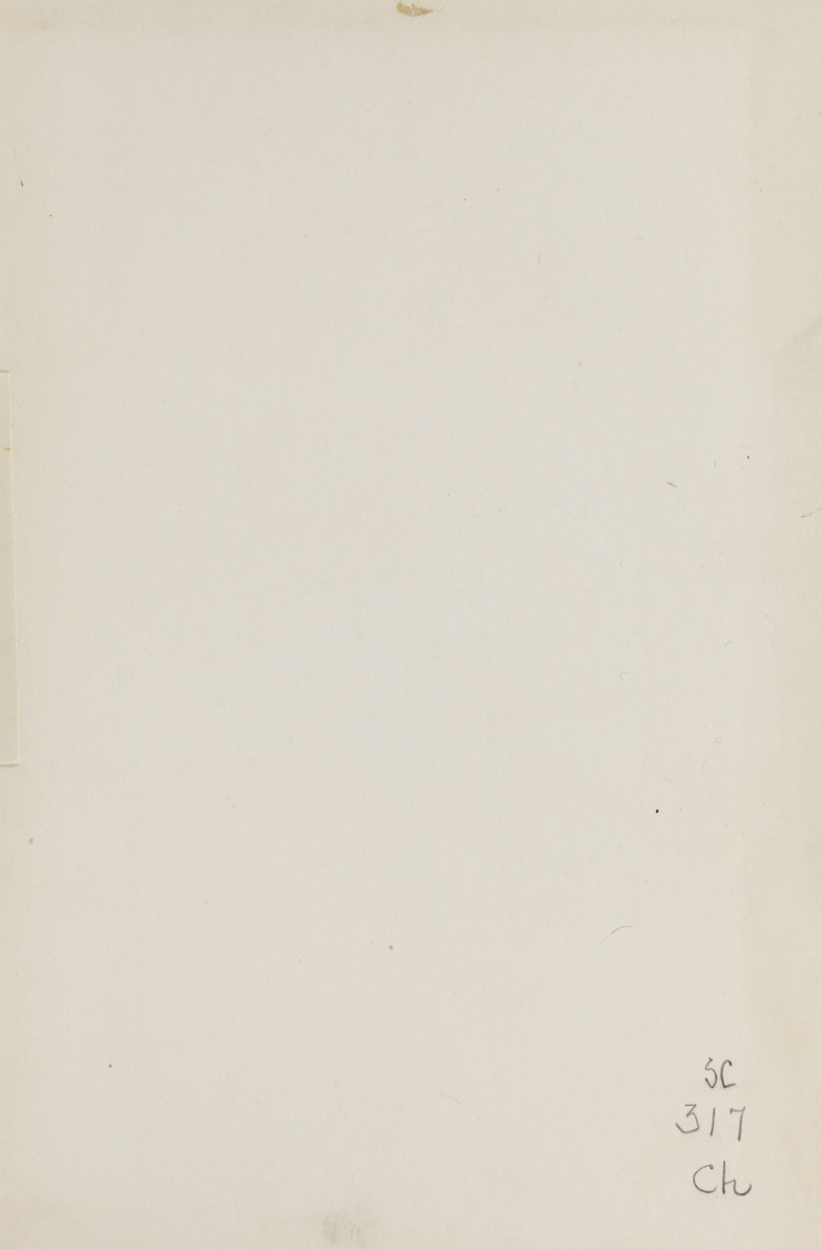 Charleston Yearbook, 1943, blank page. Handwritten note in lower corner,