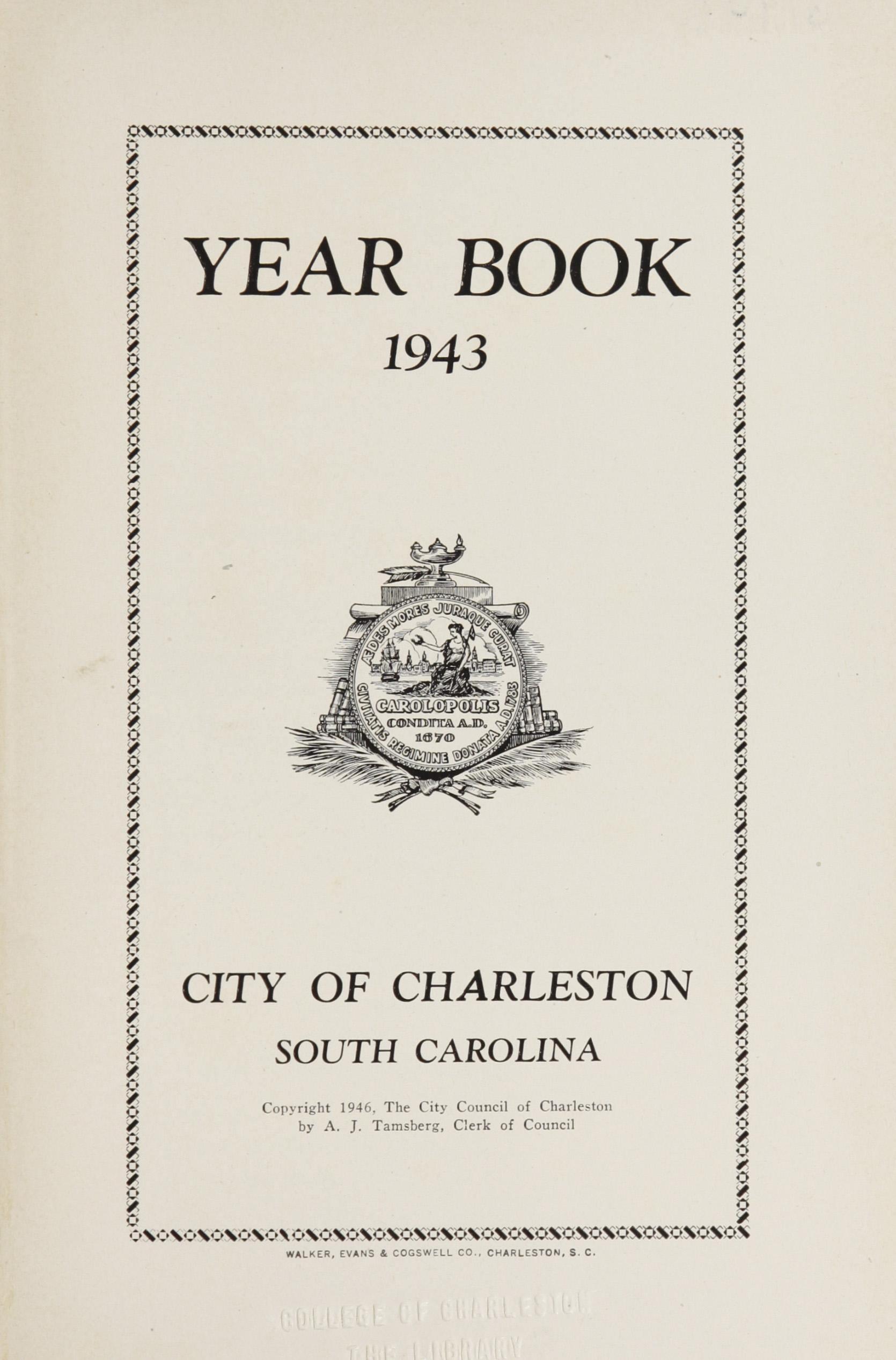 Charleston Yearbook, 1943, page 1