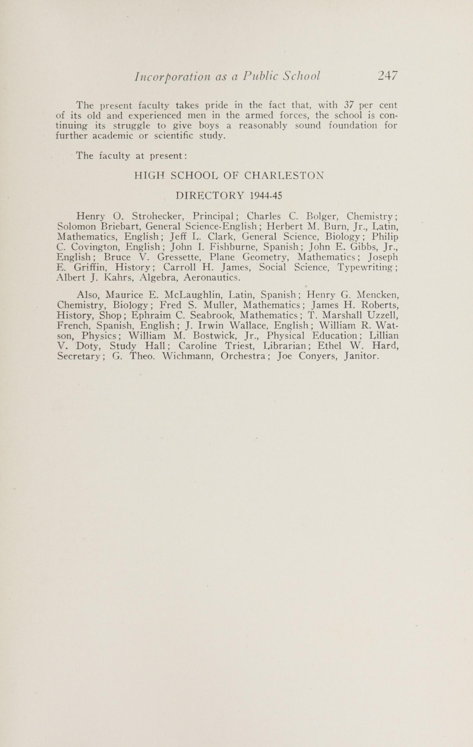 Charleston Yearbook, 1943, page 247