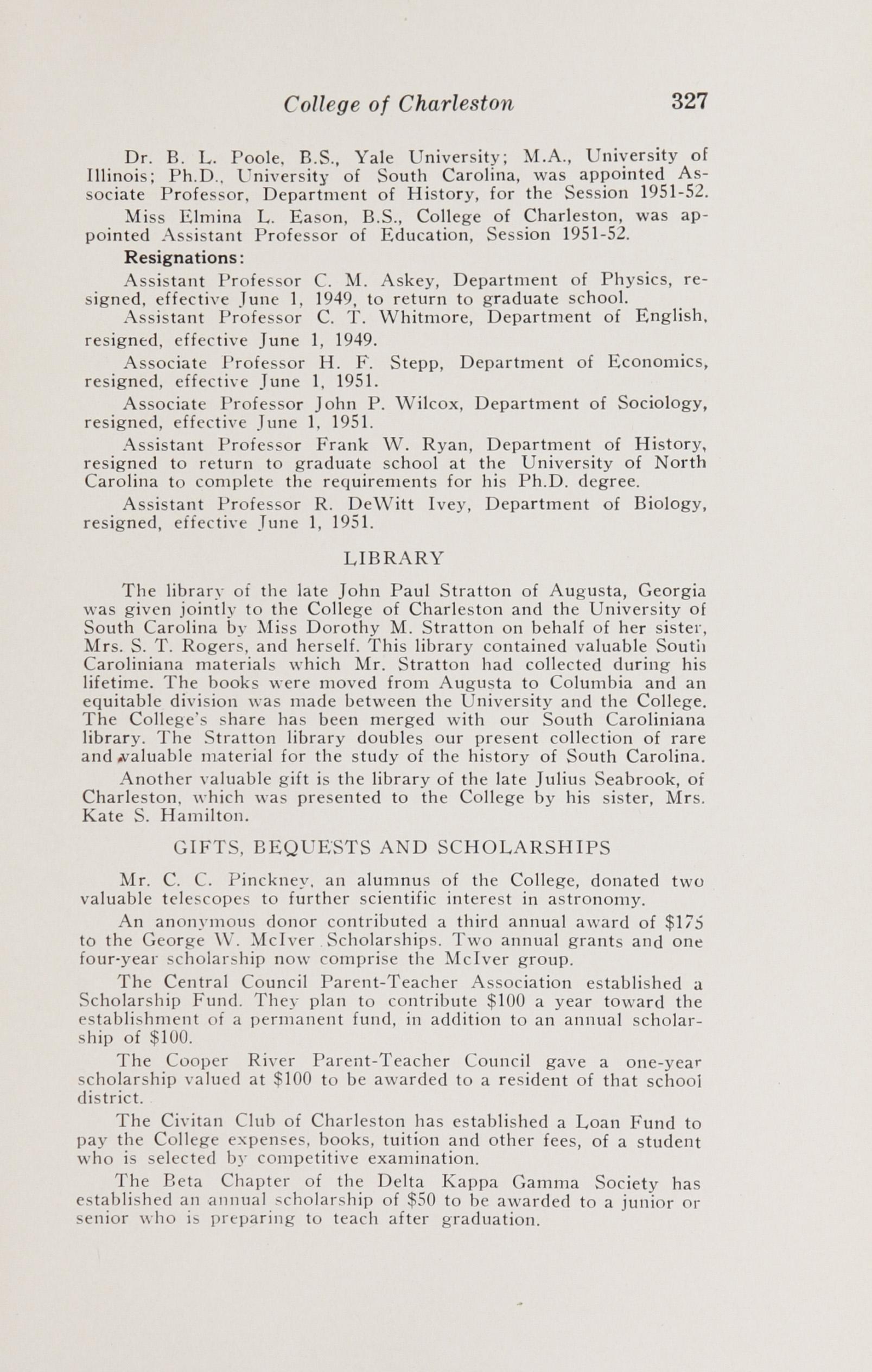 Charleston Yearbook, 1949-50-51, Page 327