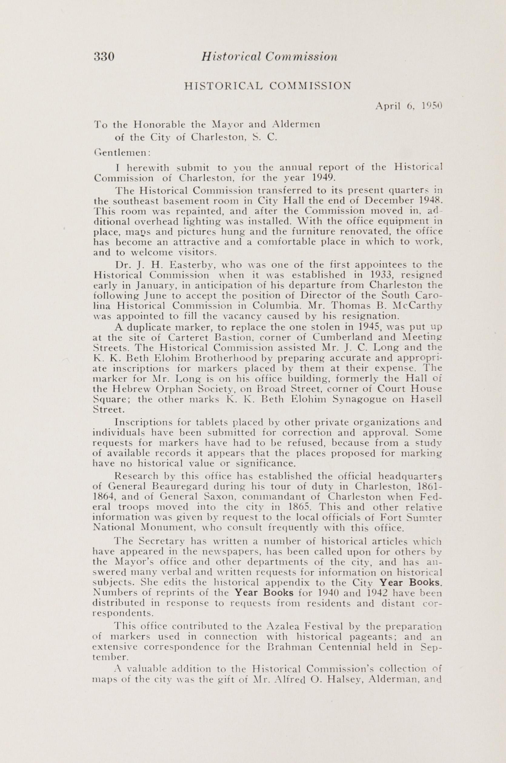 Charleston Yearbook, 1949-50-51, Page 330