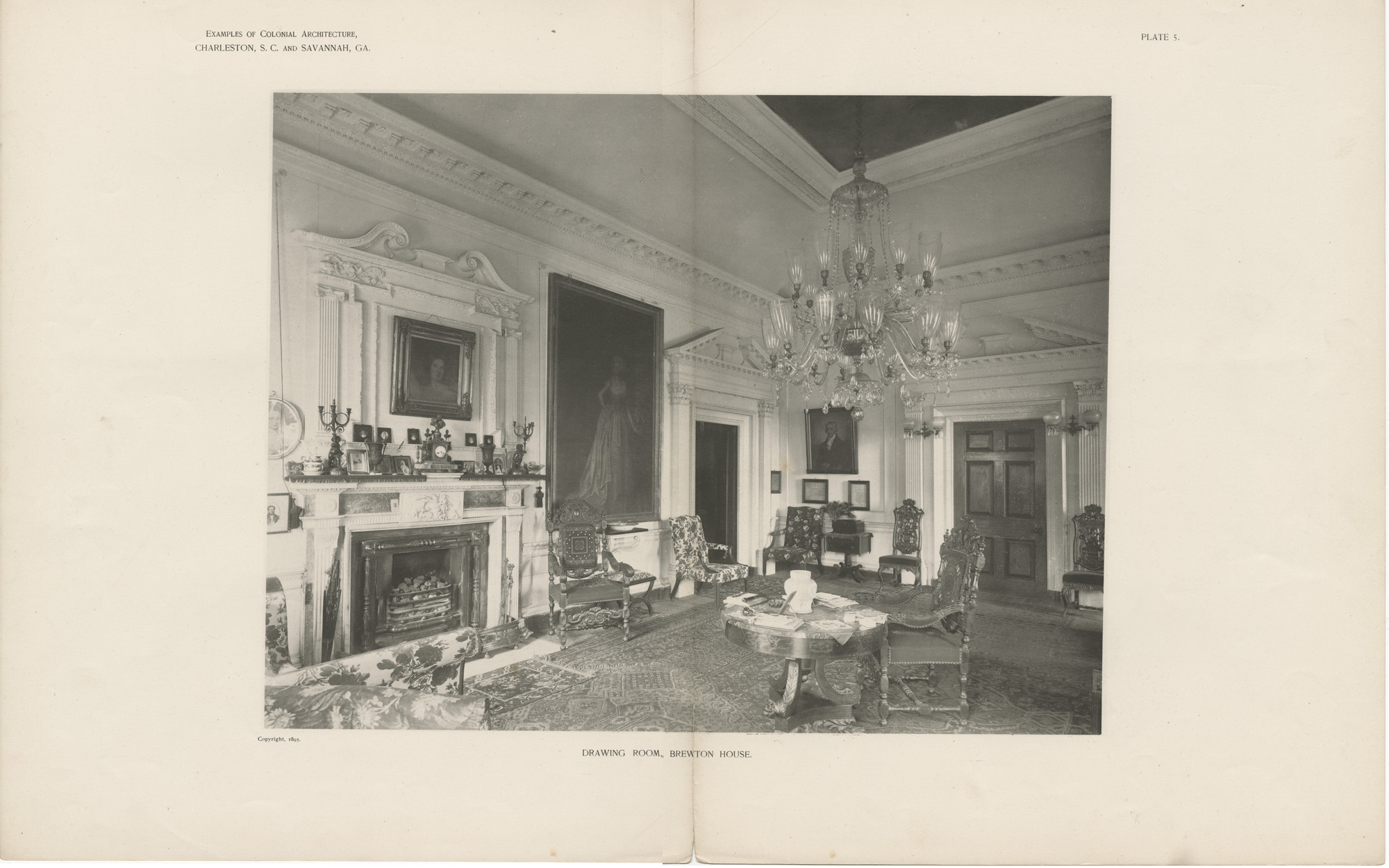 Plate 5: Drawing Room, Brewton House