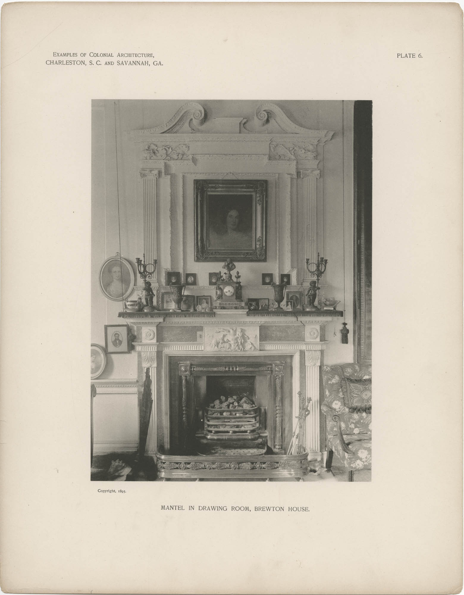Plate 6: Mantel in Drawing Room, Brewton House