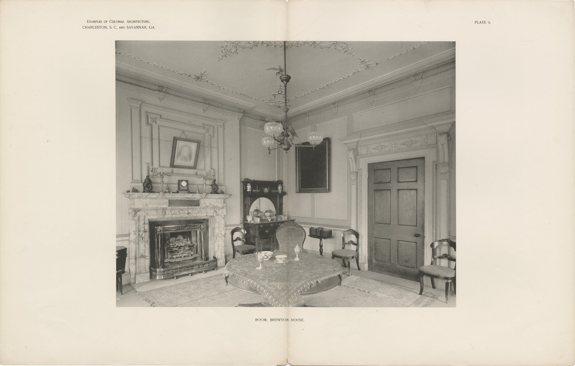 Plate 9: Room, Brewton House