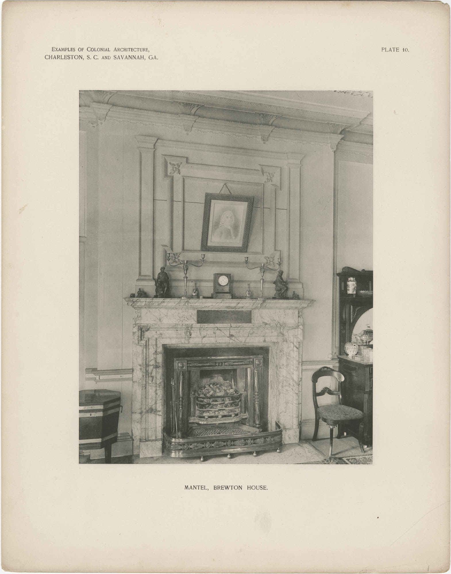 Plate 10: Mantel, Brewton House